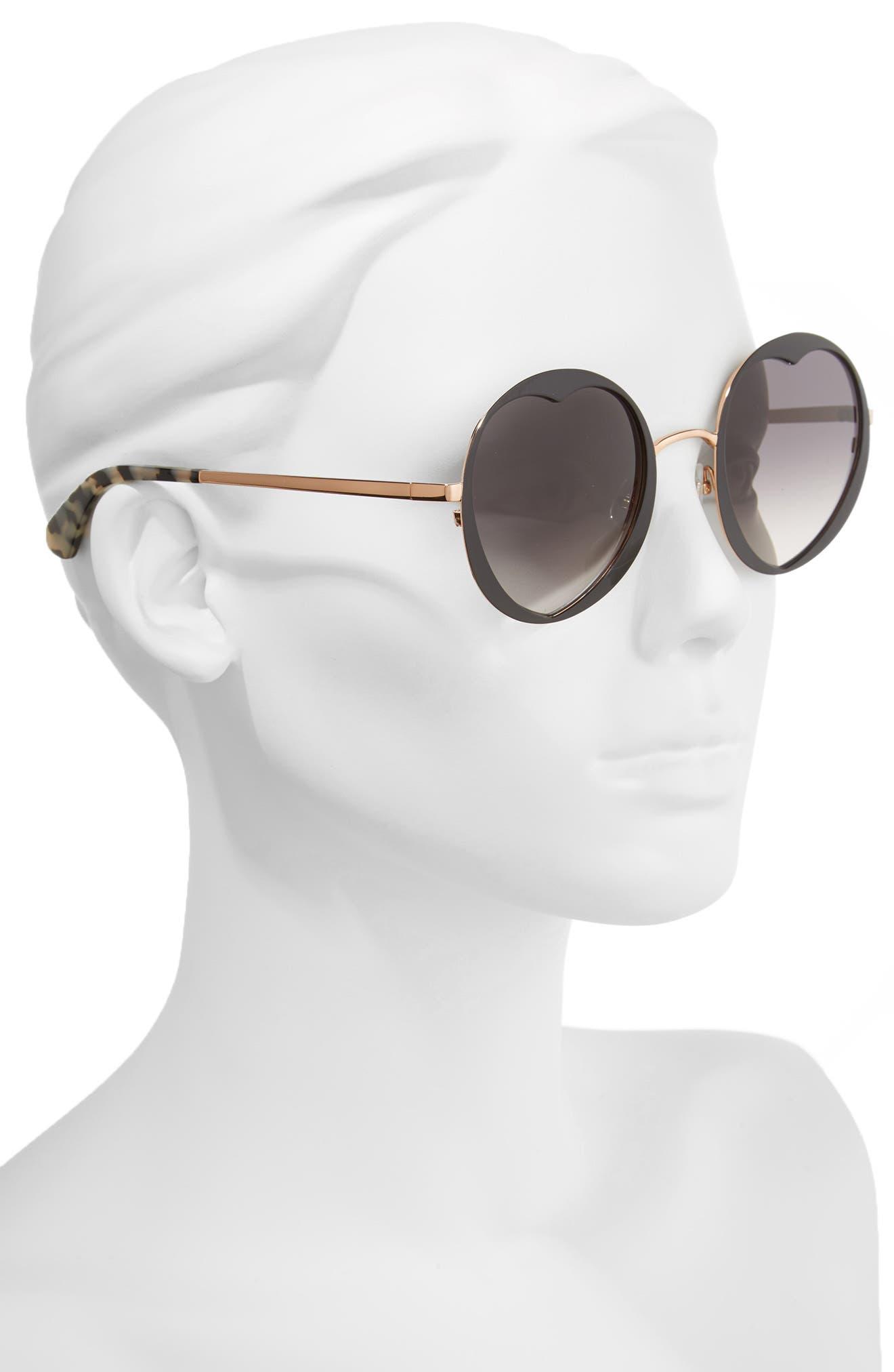 rosaria 53mm heart cutout lens sunglasses,                             Alternate thumbnail 2, color,                             001