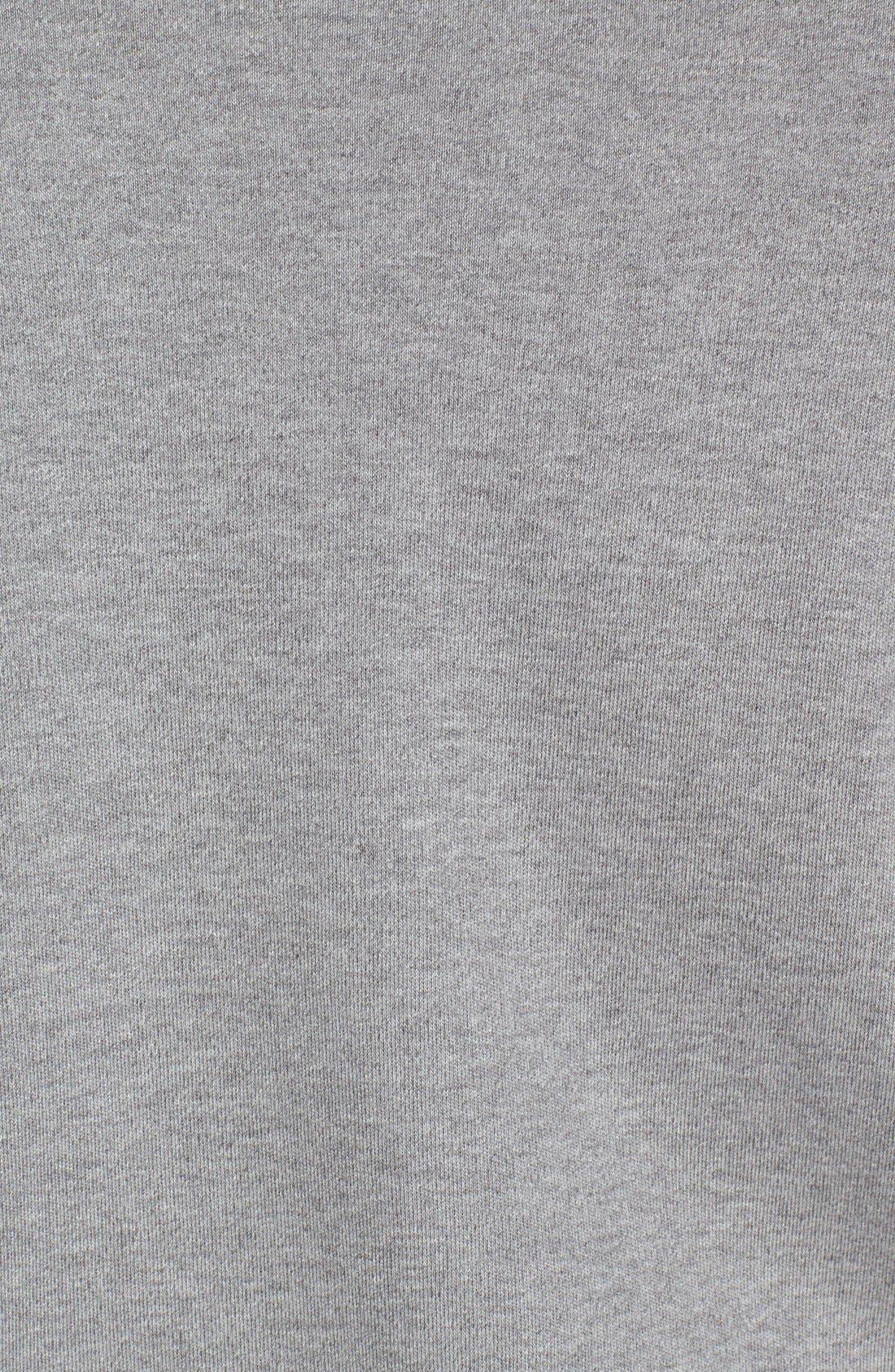 Quarter Zip Cotton Jersey Sweatshirt,                             Alternate thumbnail 3, color,                             020