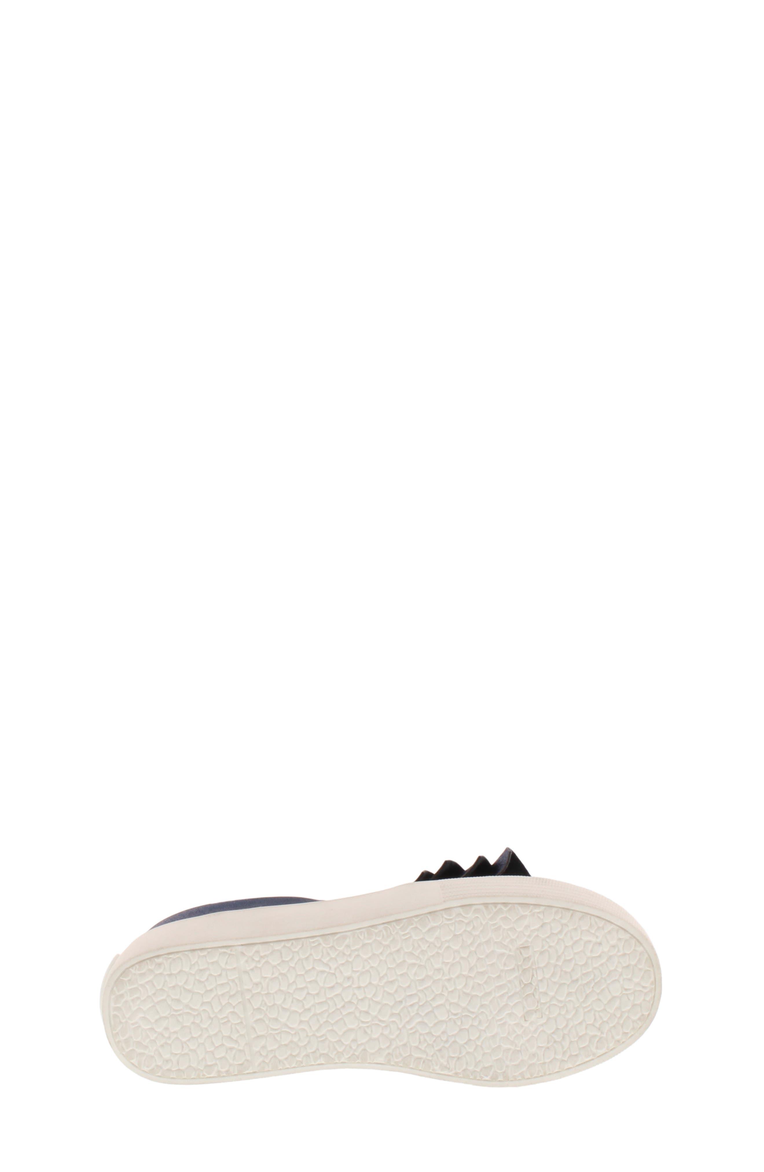 Shimmery Kam Ruffle Slip-On Sneaker,                             Alternate thumbnail 6, color,                             NAVY