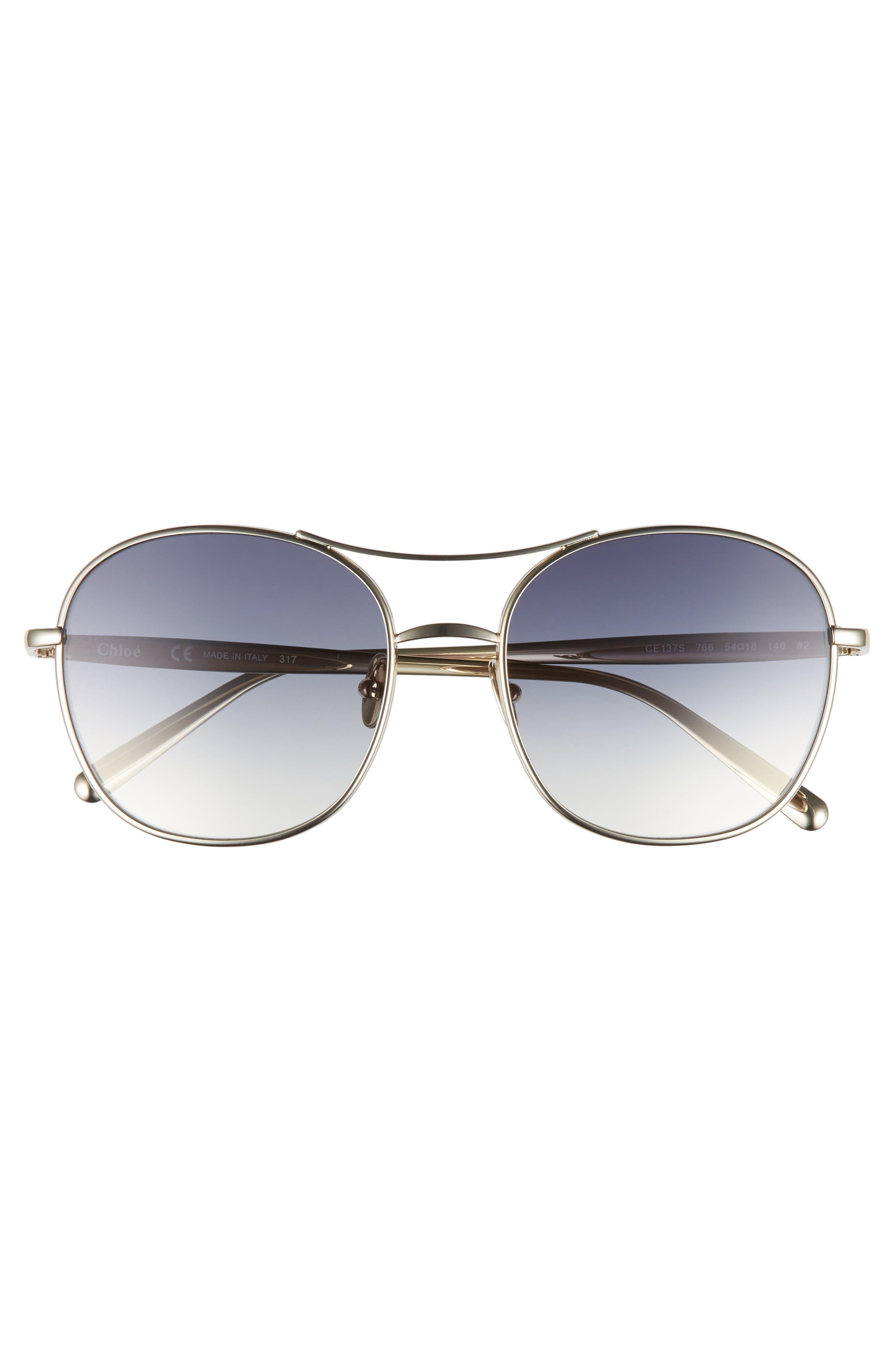 54mm Aviator Sunglasses,                             Alternate thumbnail 3, color,                             710