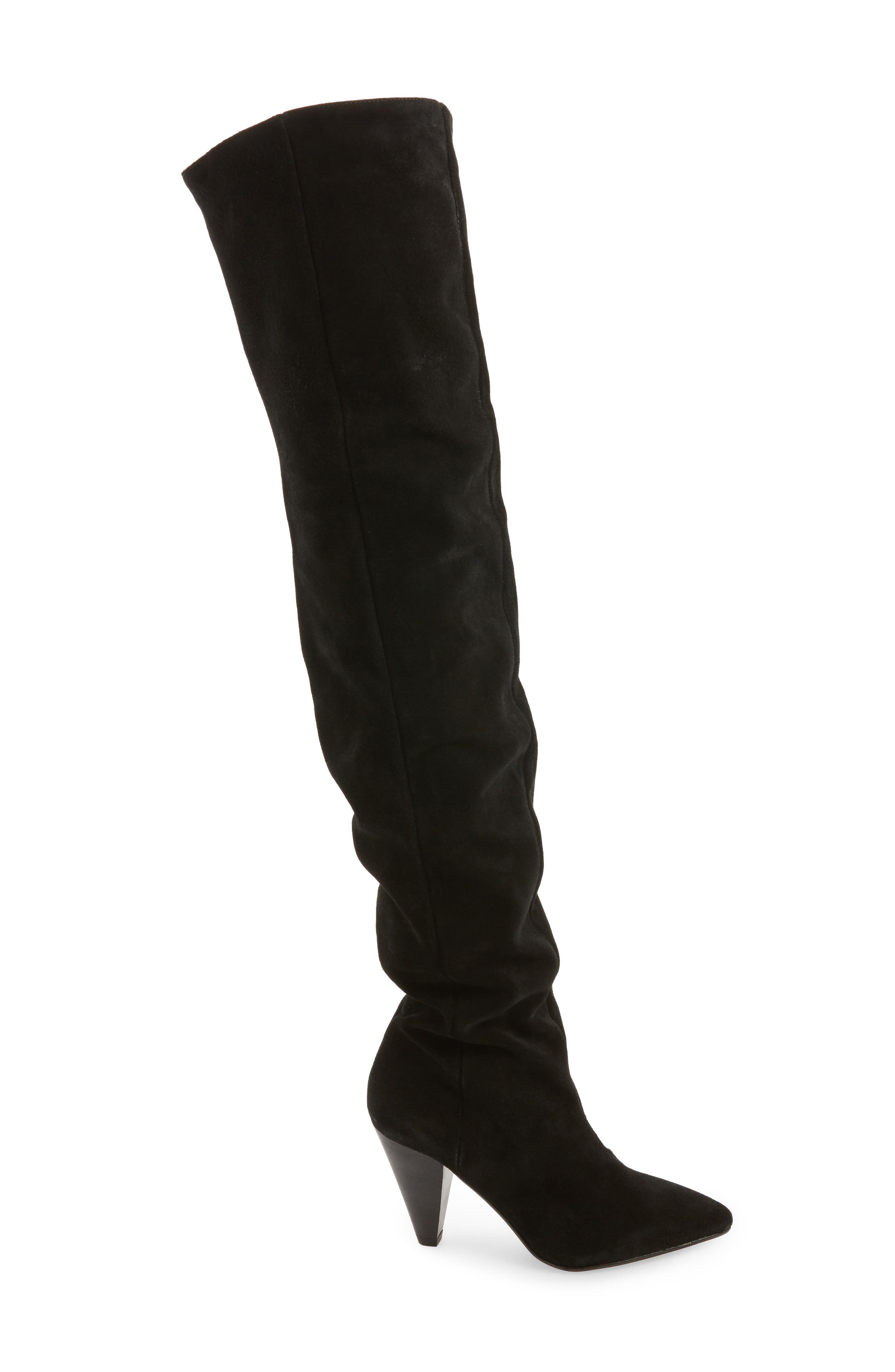 Boxer Thigh High Boots,                             Alternate thumbnail 3, color,                             001
