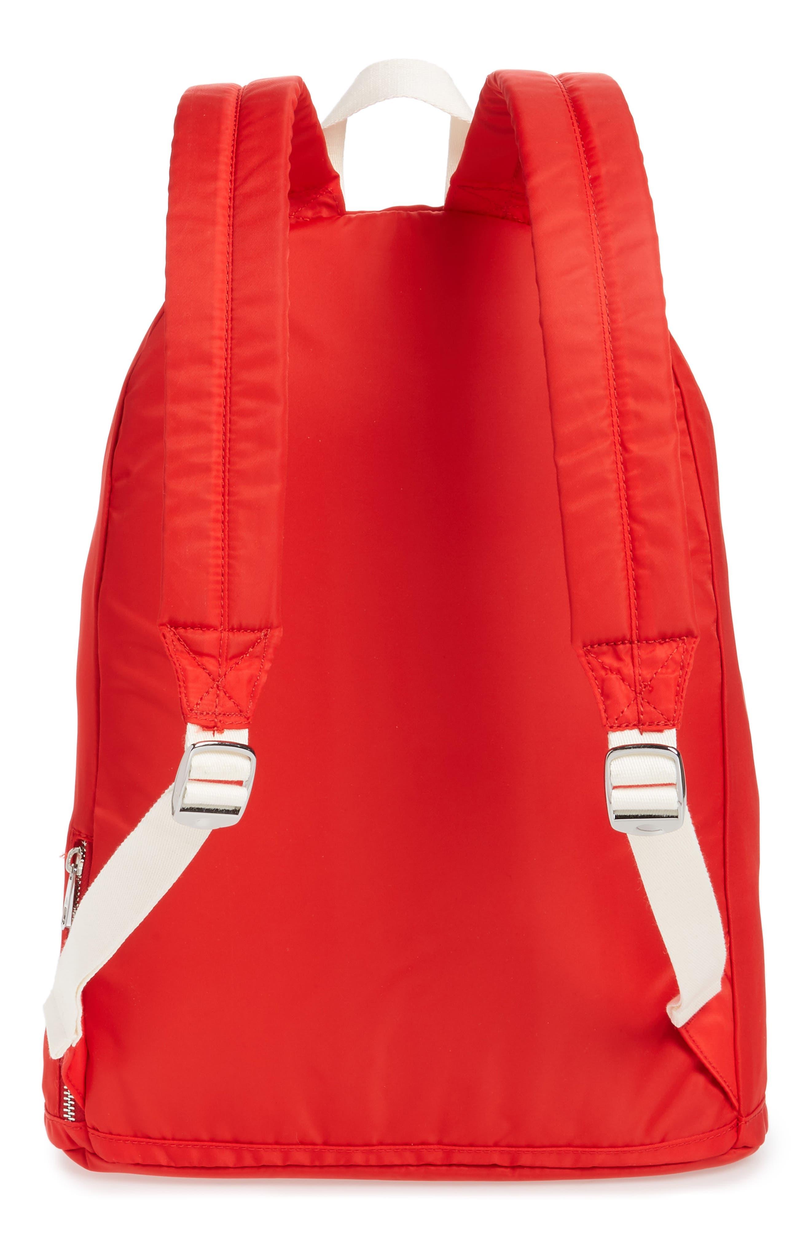Heights Lorimer Nylon Backpack,                             Alternate thumbnail 3, color,                             RED