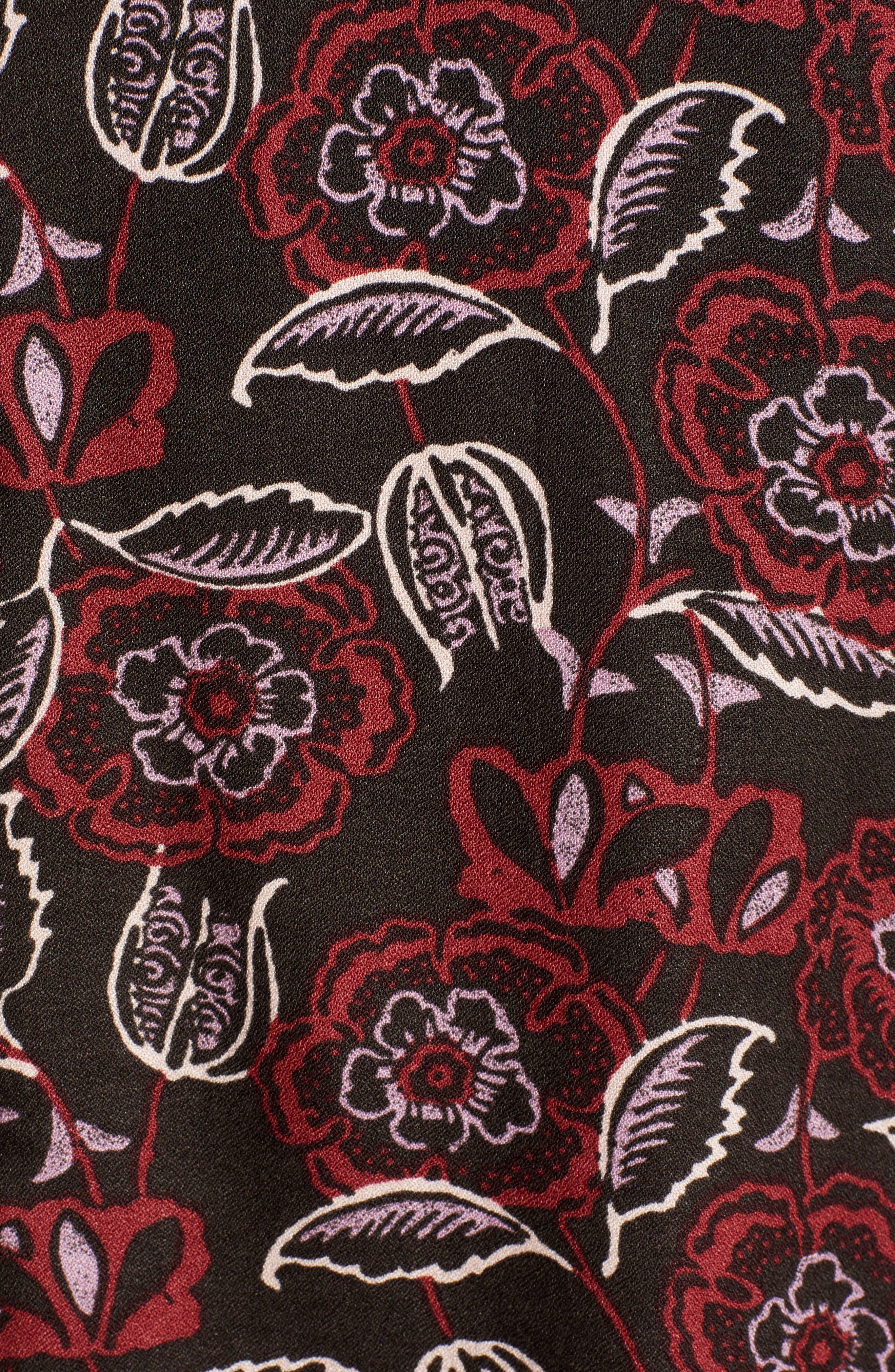 HINGE,                             Lace Stripe V-Neck Blouse,                             Alternate thumbnail 5, color,                             002