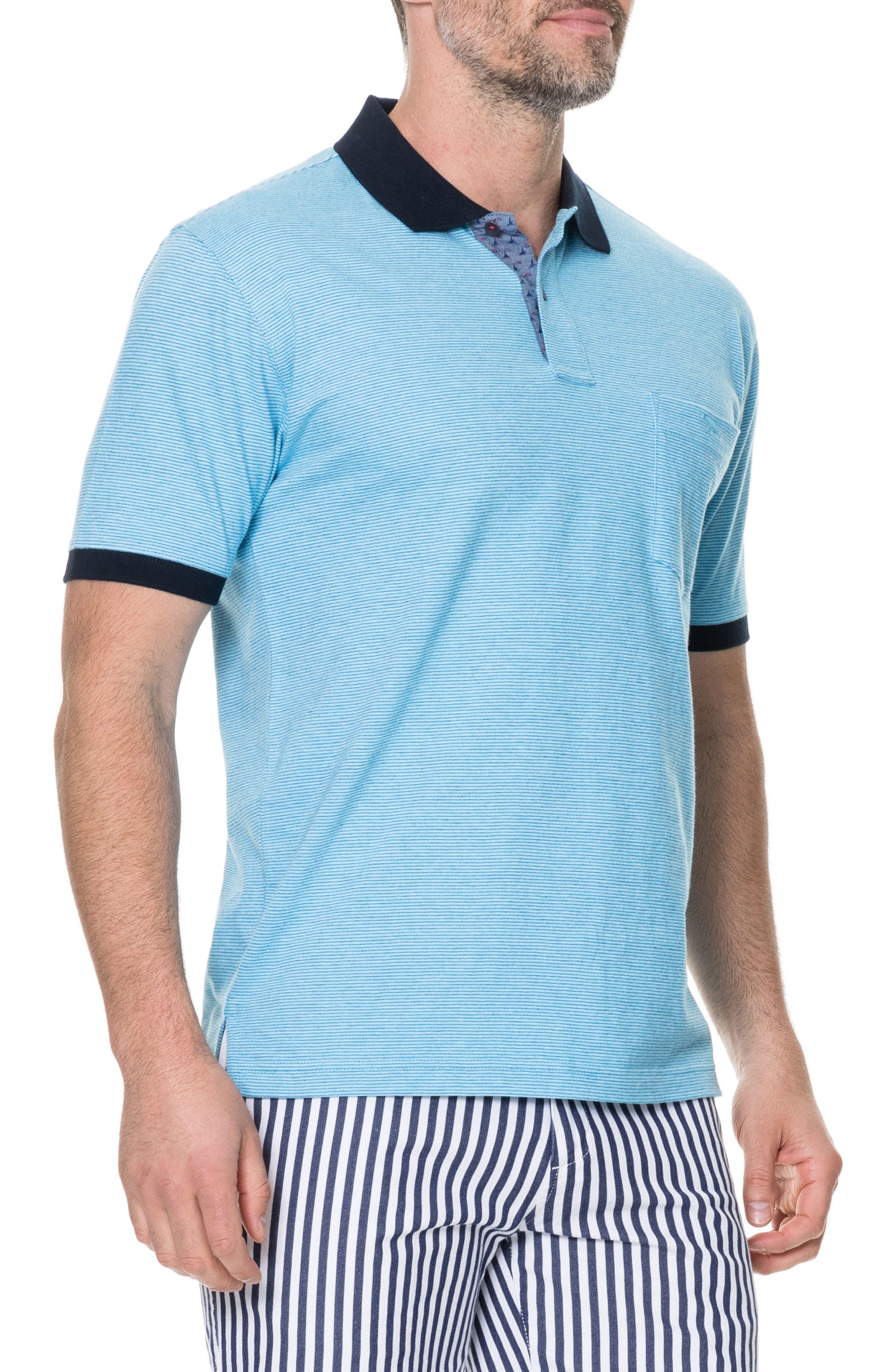 Sedgebrook Regular Fit Polo,                             Alternate thumbnail 5, color,                             AQUA