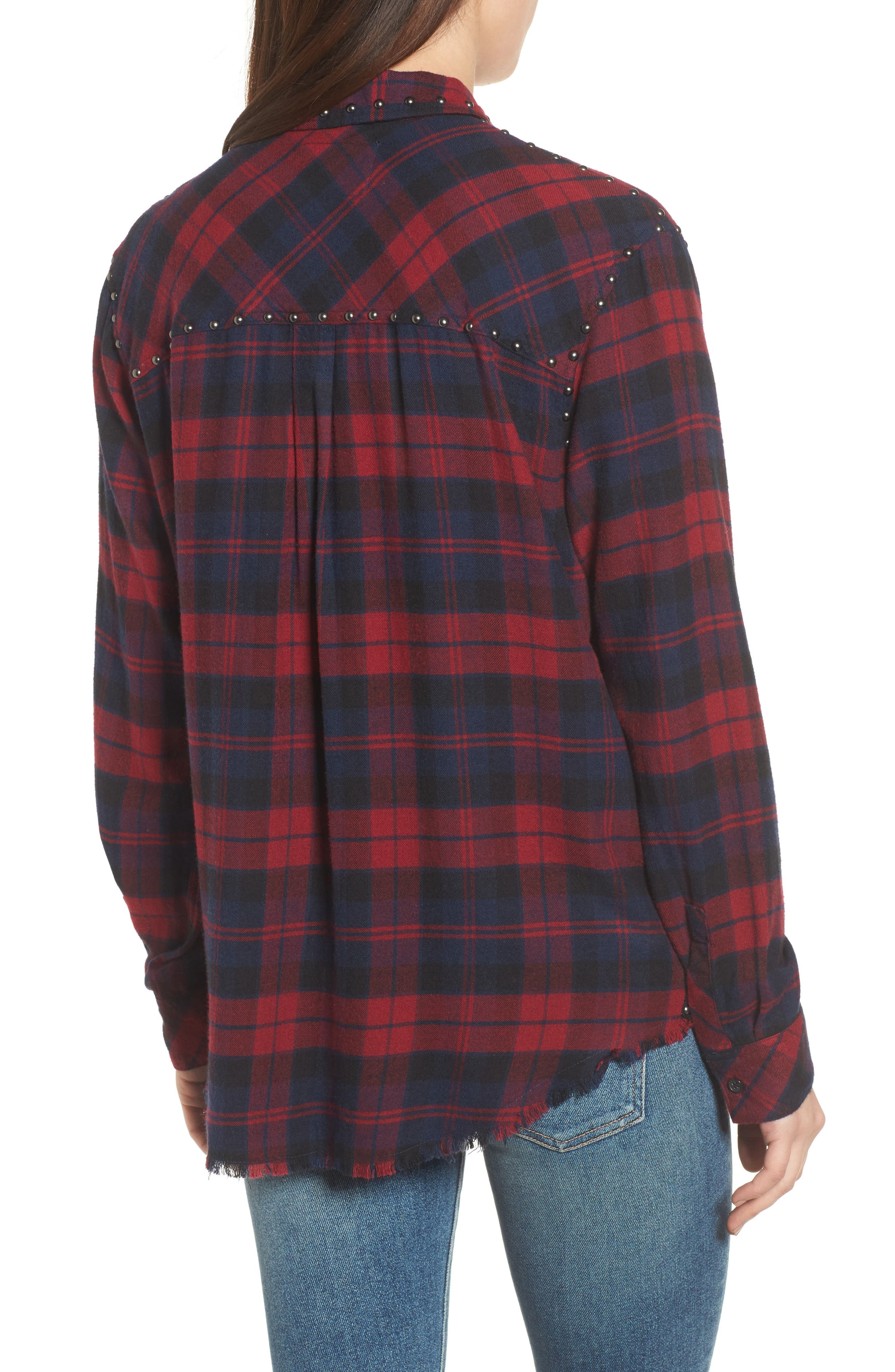 Rex Studded Plaid Shirt,                             Alternate thumbnail 2, color,                             622