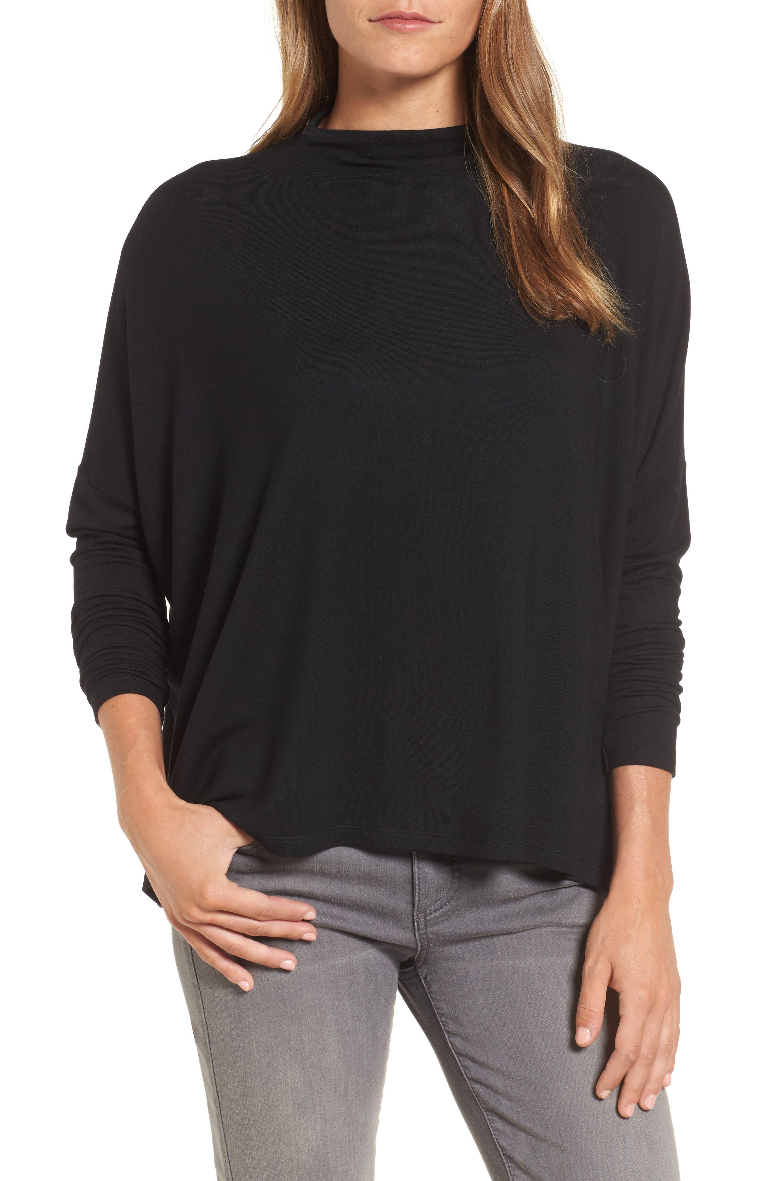 High Neck Sweatshirt,                         Main,                         color, 001