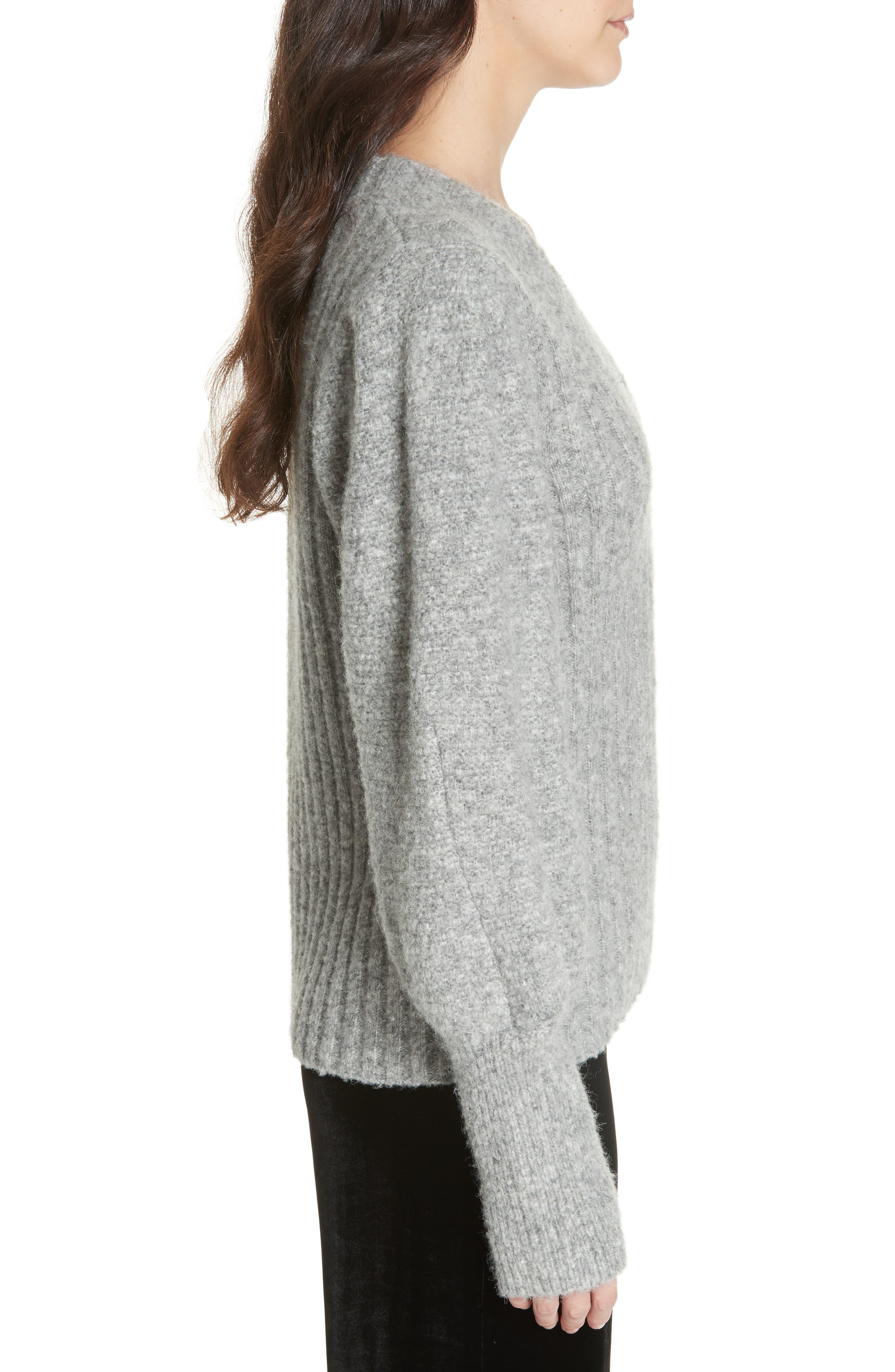REBECCA TAYLOR,                             Lofty Alpaca Wool Blend Sweater,                             Alternate thumbnail 3, color,                             052