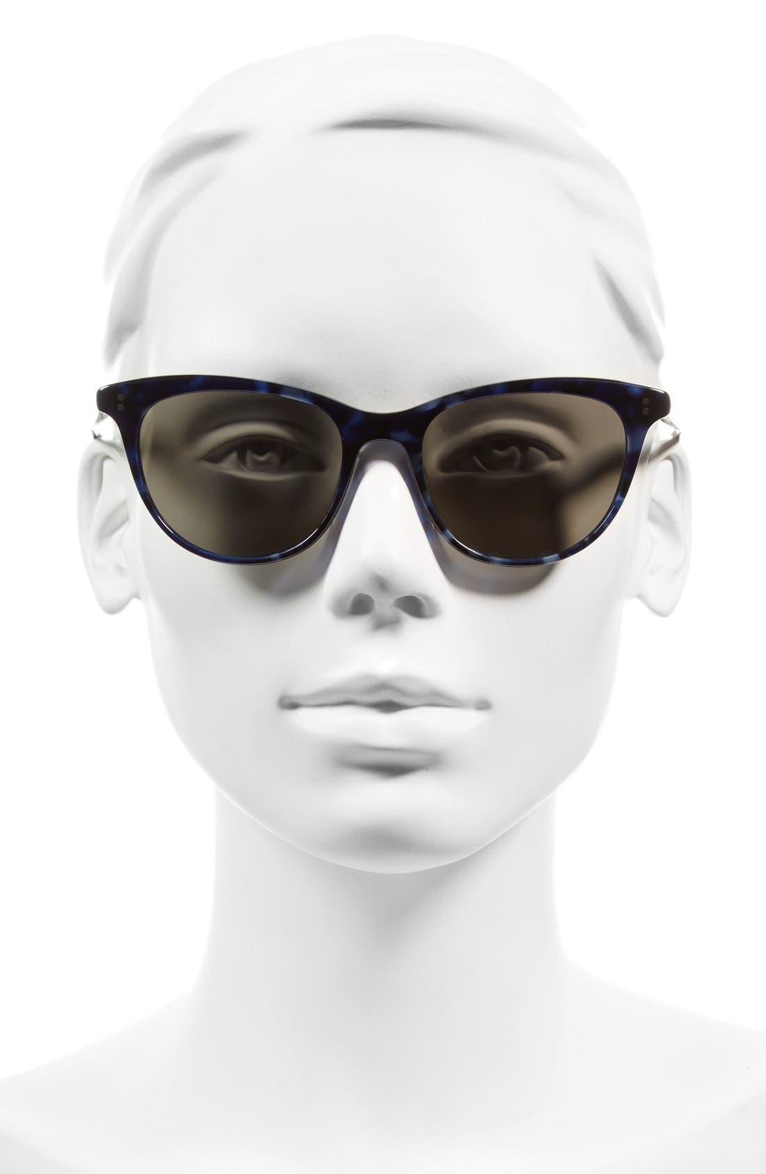 Jardinette 52mm Cat Eye Sunglasses,                             Alternate thumbnail 2, color,                             BLUE