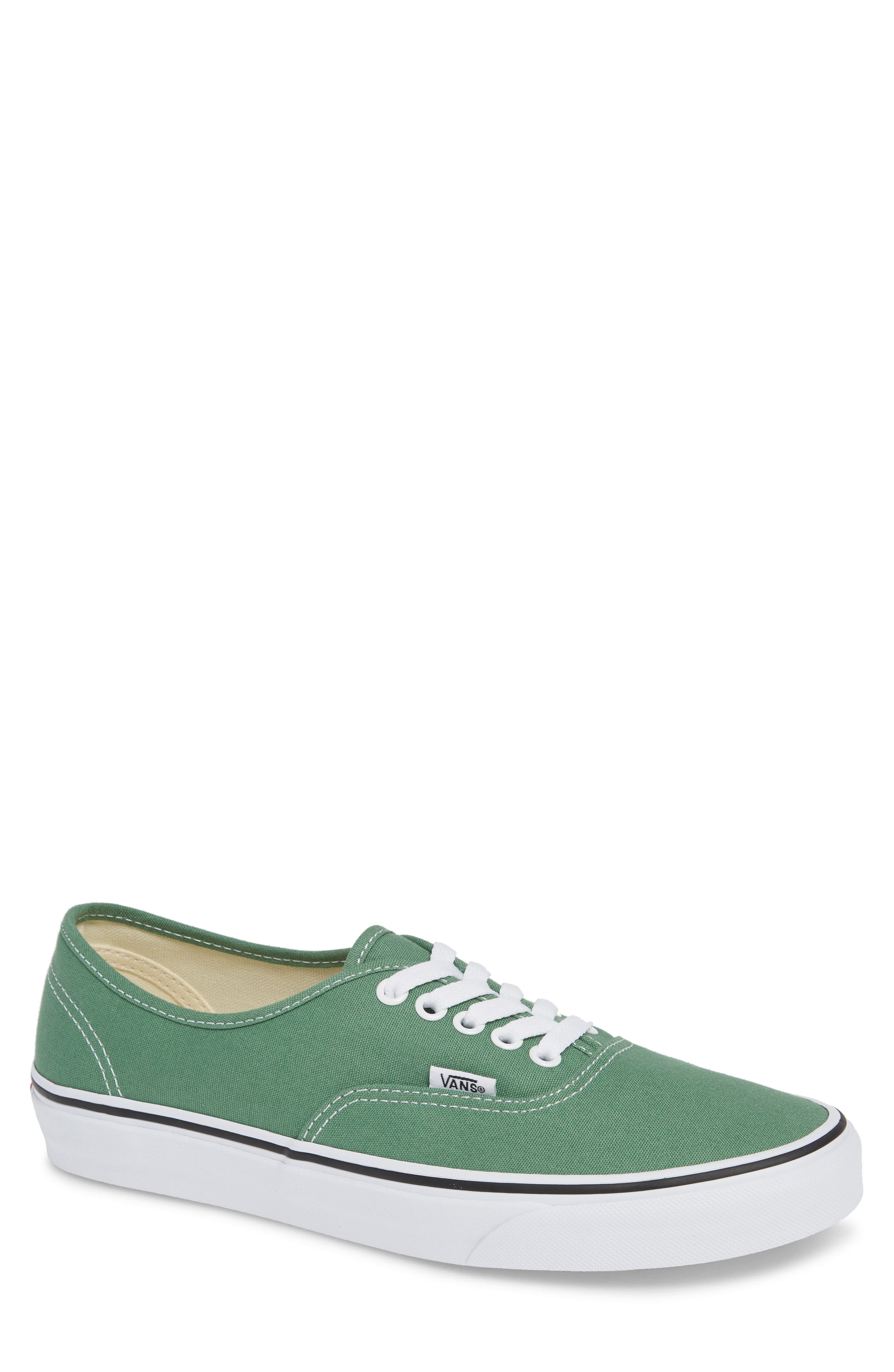 VANS 'Authentic' Sneaker, Main, color, DEEP GRASS GREEN/ TRUE WHITE