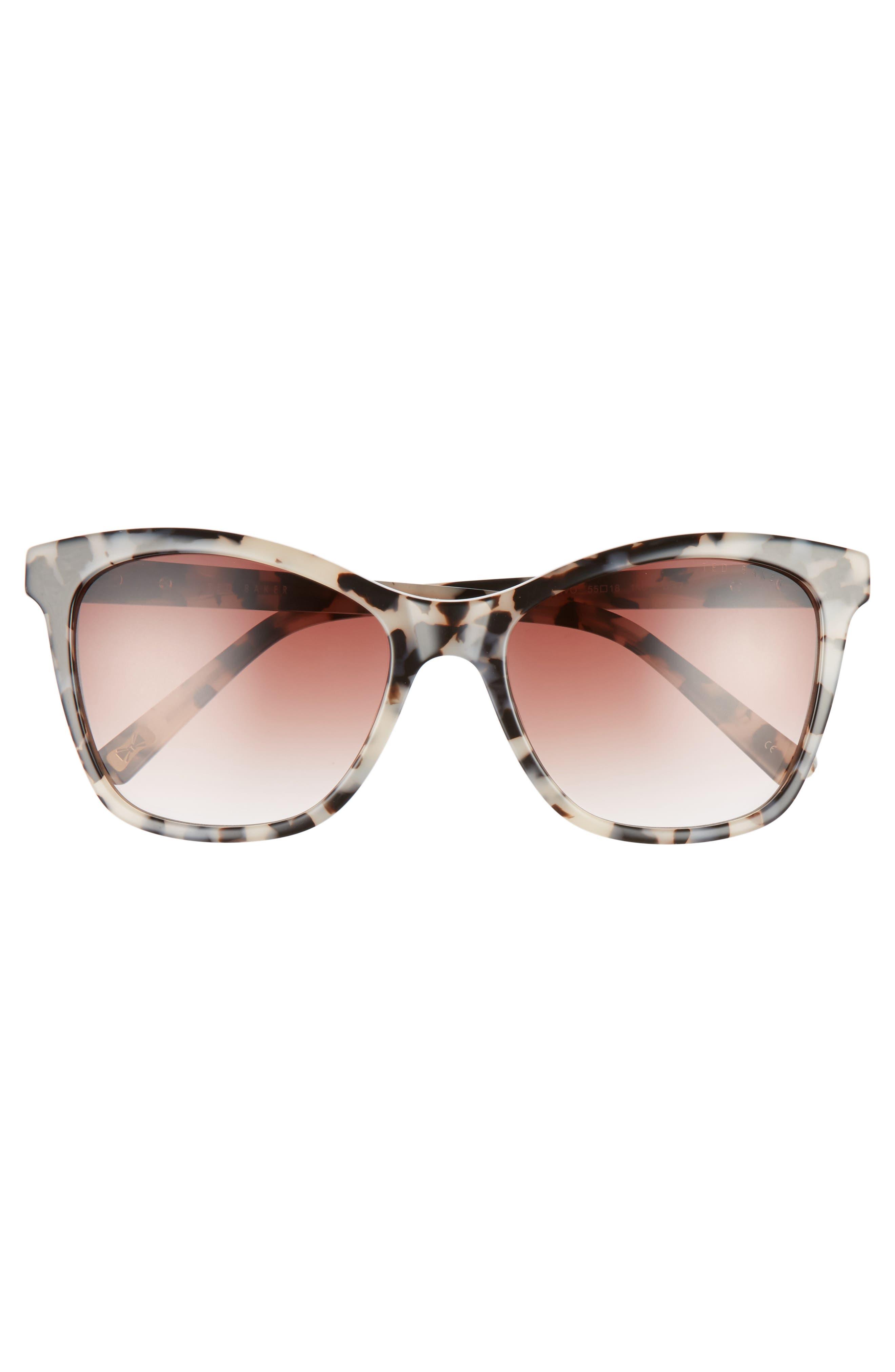 55mm Cat Eye Sunglasses,                             Alternate thumbnail 6, color,