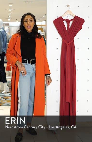 Convertible Wide Leg Jersey Jumpsuit, sales video thumbnail