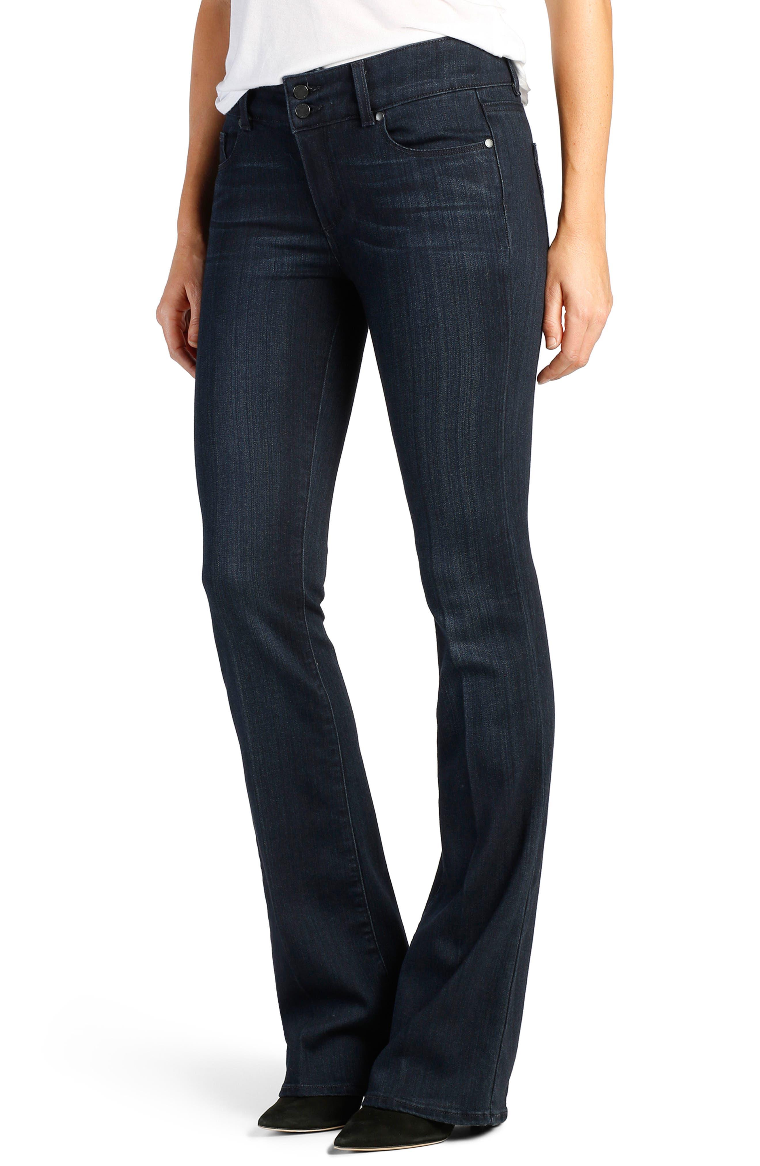 Transcend - Hidden Hills High Waist Bootcut Jeans,                             Main thumbnail 1, color,                             400