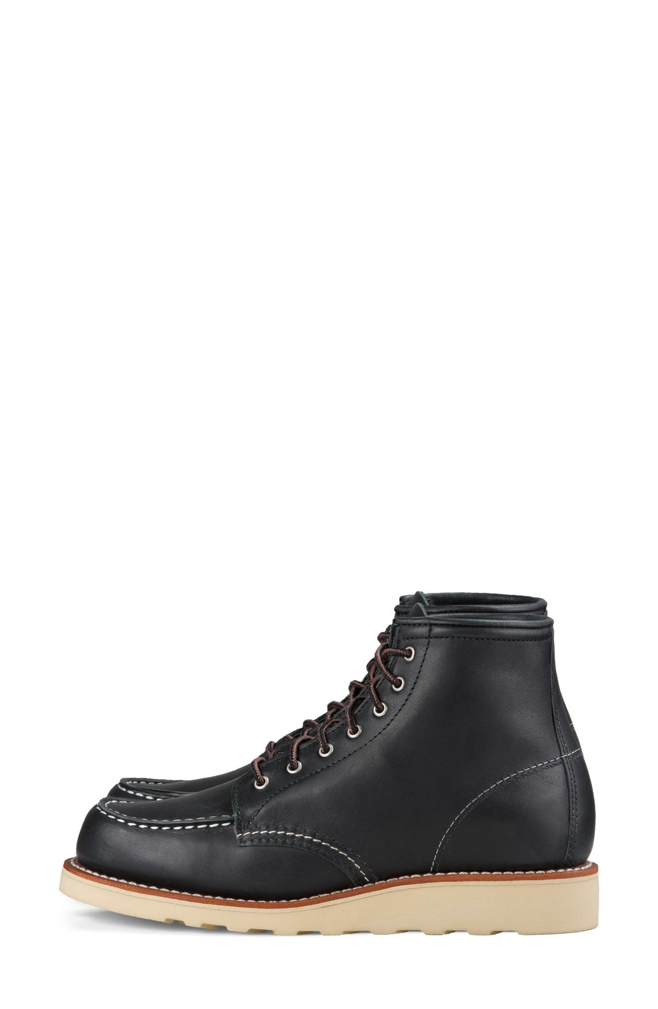 RED WING,                             6-Inch Moc Boot,                             Alternate thumbnail 2, color,                             BLACK BOUNDARY LEATHER