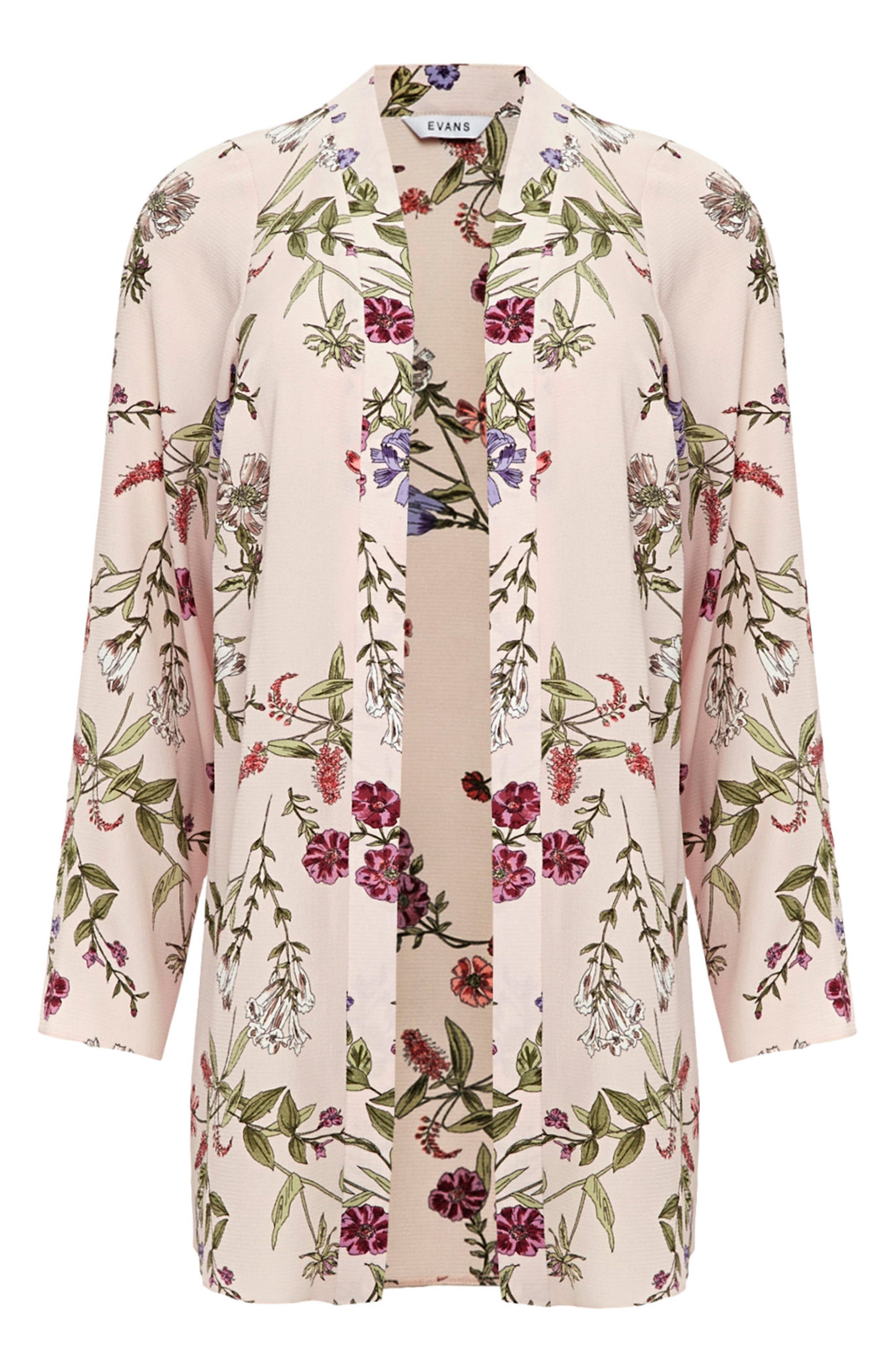 Floral Kimono Jacket,                             Alternate thumbnail 2, color,                             650
