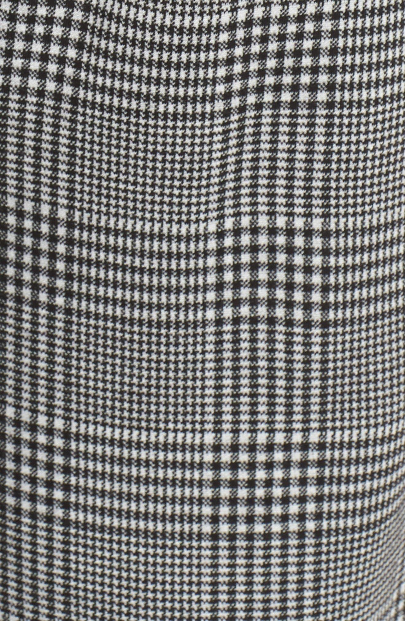 Glen Plaid Jumpsuit,                             Alternate thumbnail 6, color,                             BLACK- WHITE DELIA PLAID