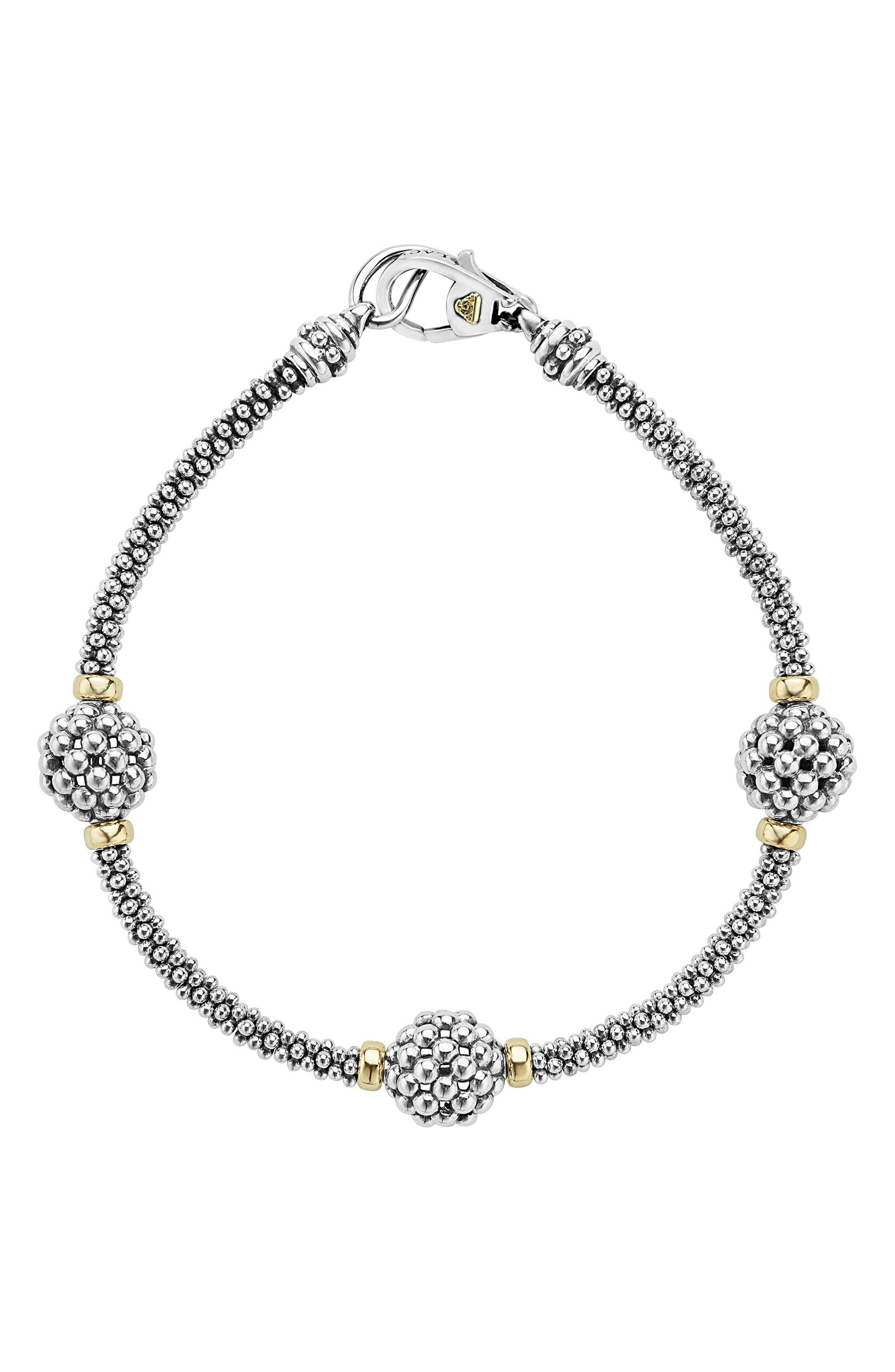 'Caviar Forever' Ball Station Bracelet,                             Alternate thumbnail 2, color,                             SILVER/ GOLD
