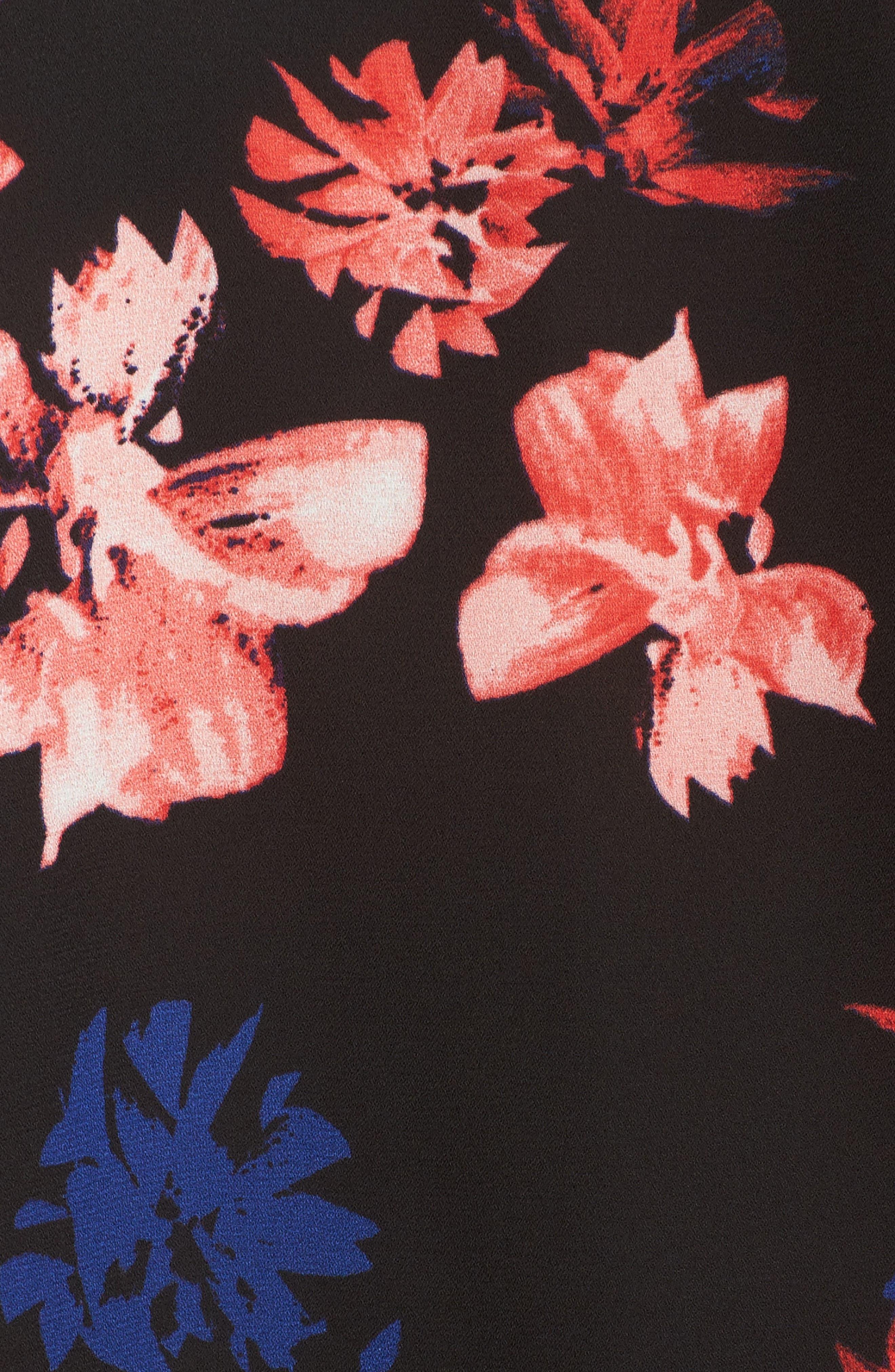 Ballard Floral Print Blouse,                             Alternate thumbnail 5, color,                             010