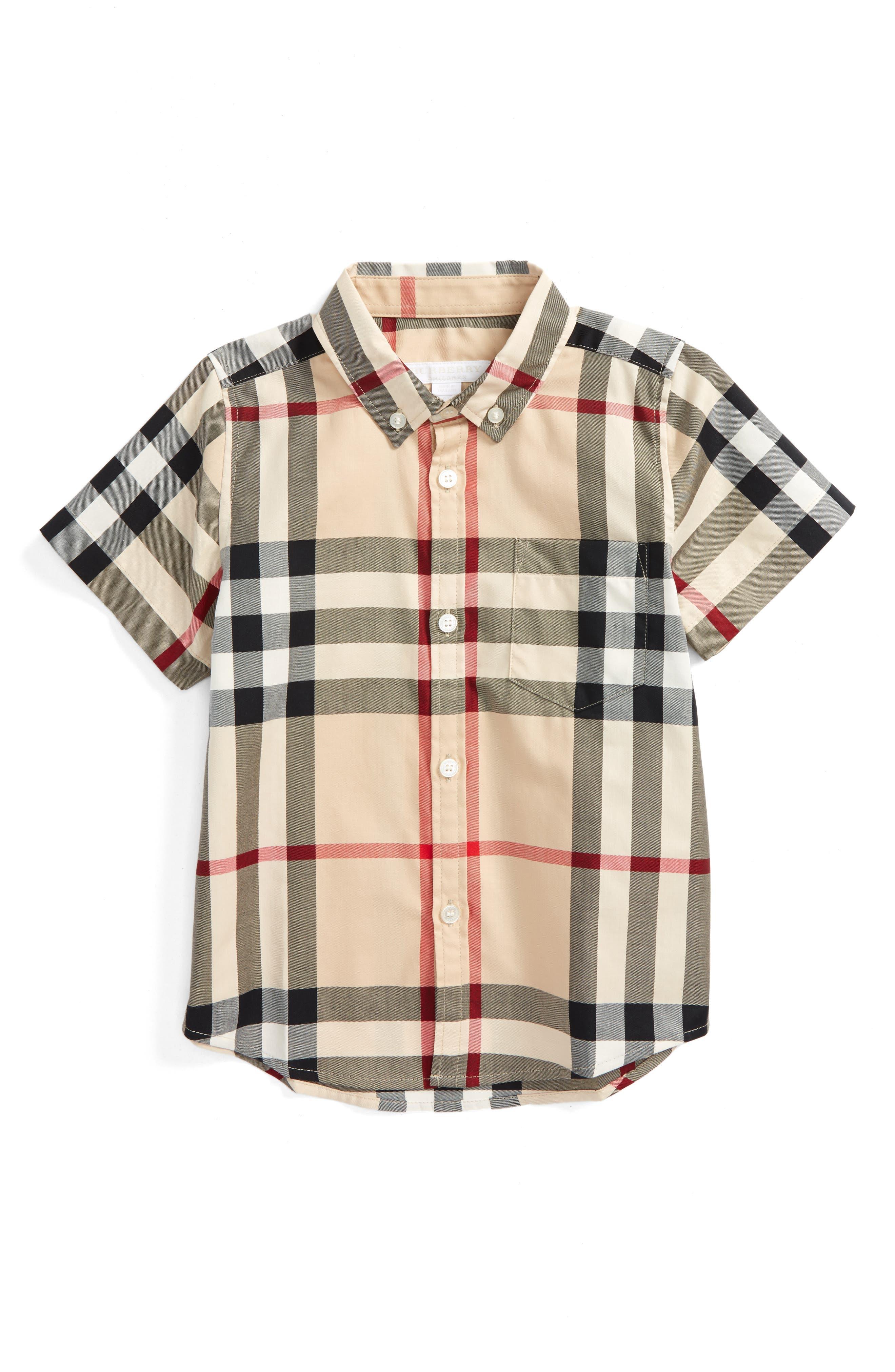 Fred Check Shirt,                         Main,                         color, 272