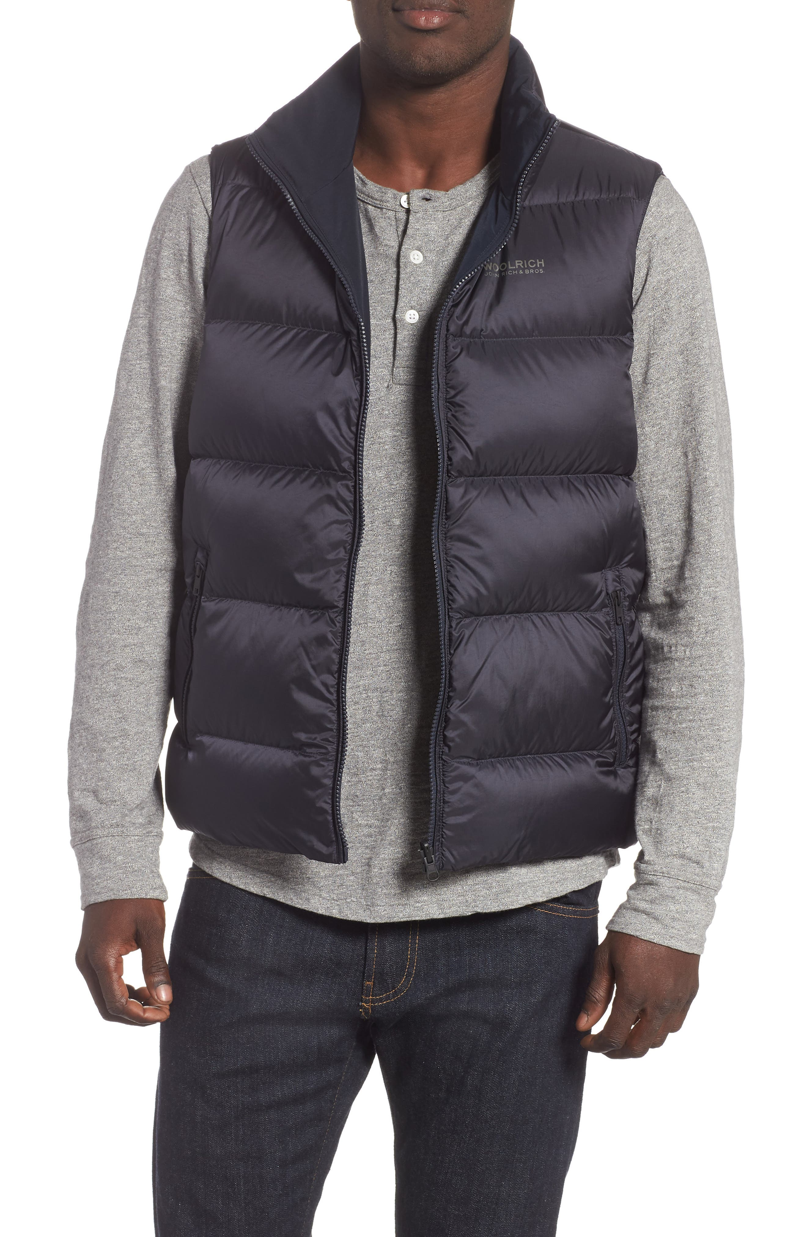 Reversible Down Regular Fit Vest,                             Alternate thumbnail 2, color,                             MELTON BLUE