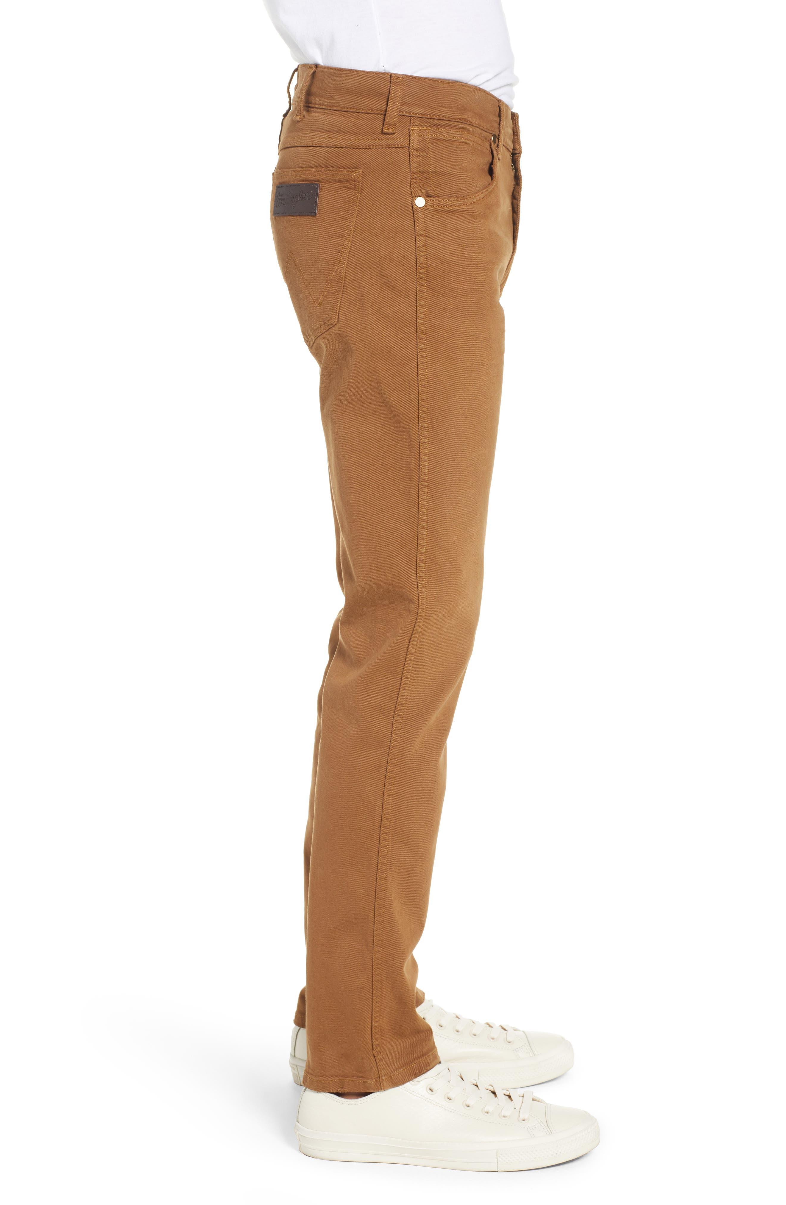 WRANGLER,                             Greensboro Straight Leg Pants,                             Alternate thumbnail 3, color,                             BISCUIT