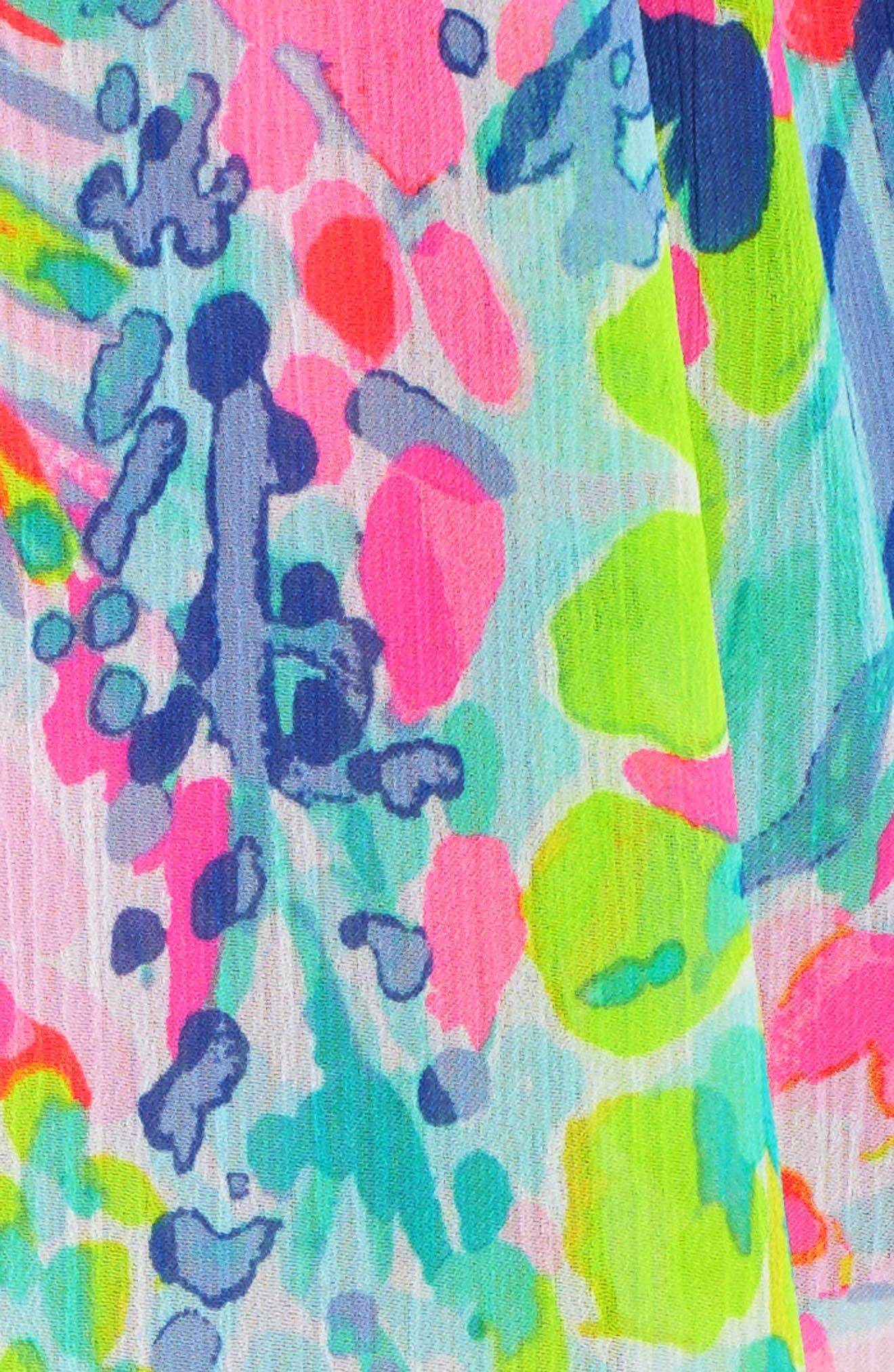 Gardenia Tie Waist Cover-Up,                             Alternate thumbnail 6, color,