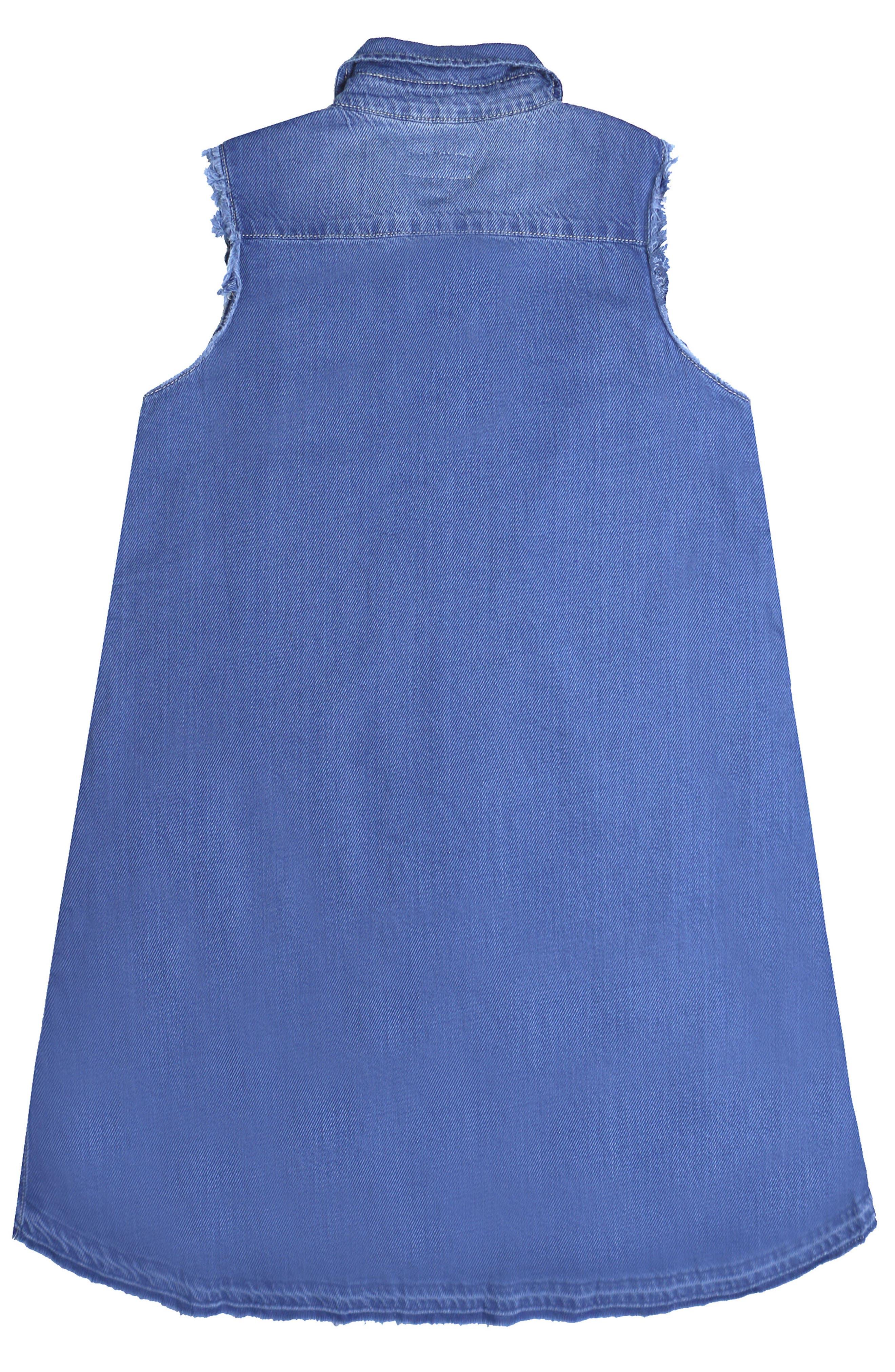 Chambray Shirt Dress,                             Alternate thumbnail 2, color,
