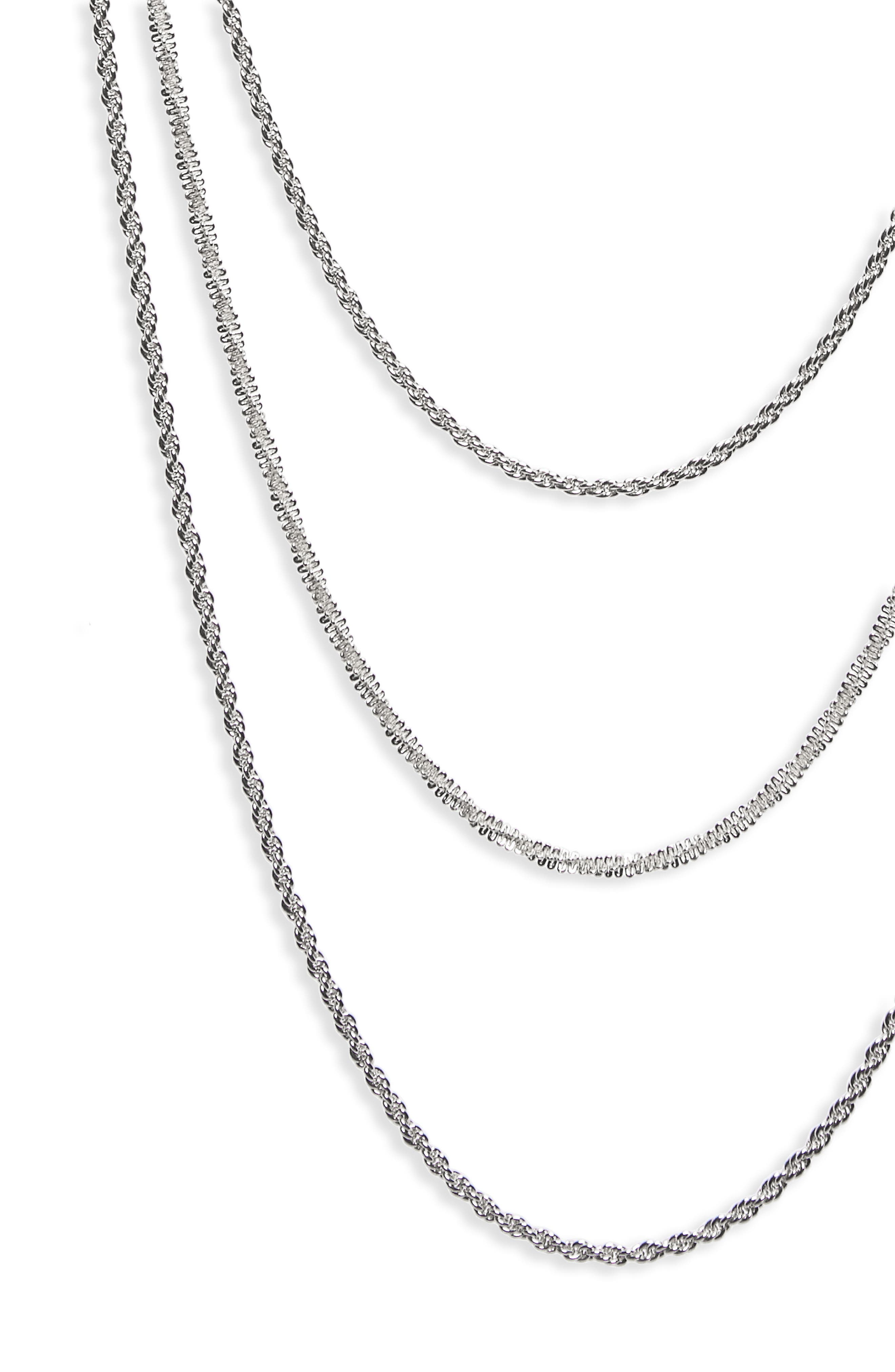 Multistrand Chain Necklace,                             Alternate thumbnail 2, color,                             040