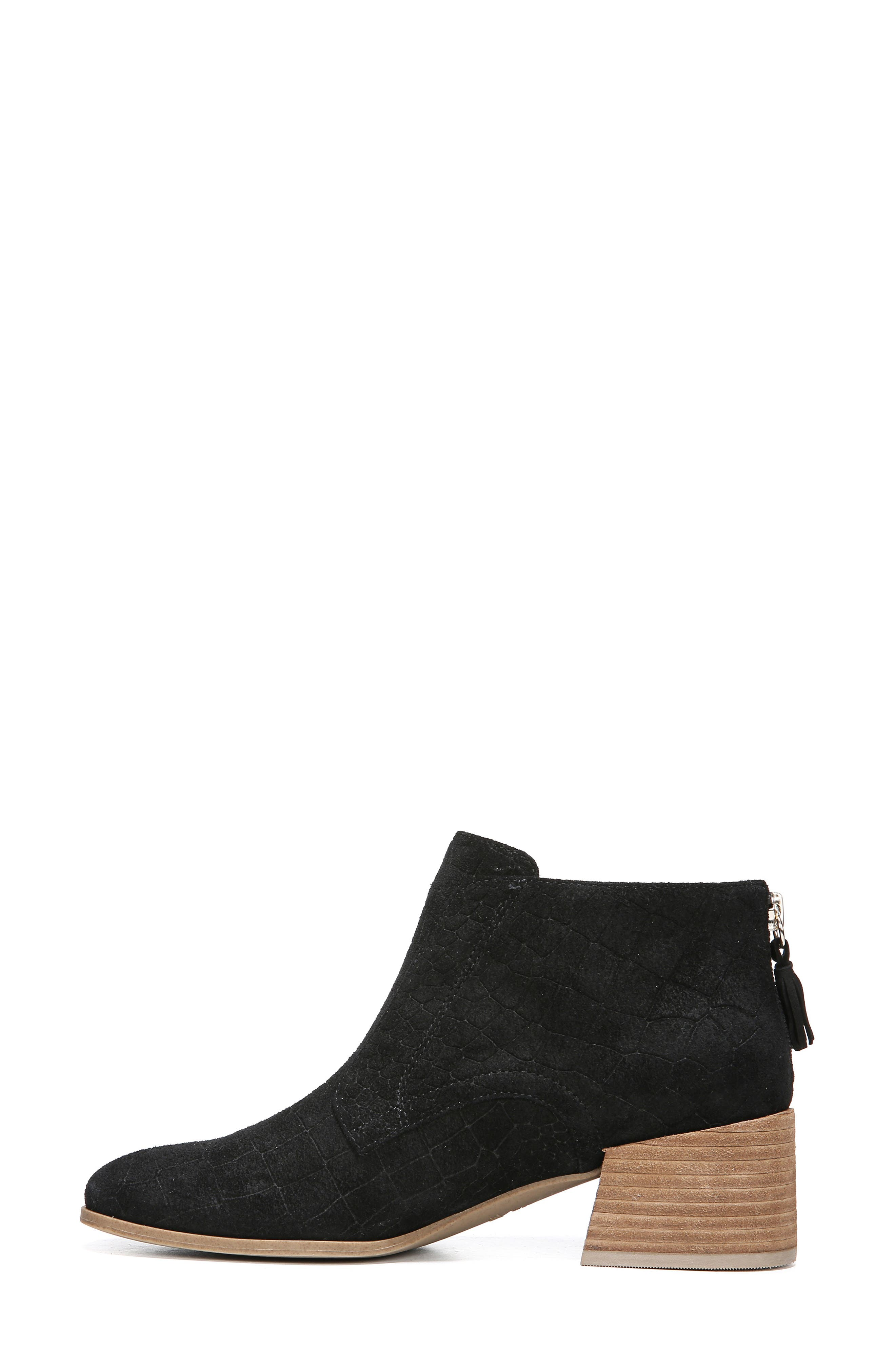 Bianca Bootie,                             Alternate thumbnail 9, color,                             BLACK LEATHER