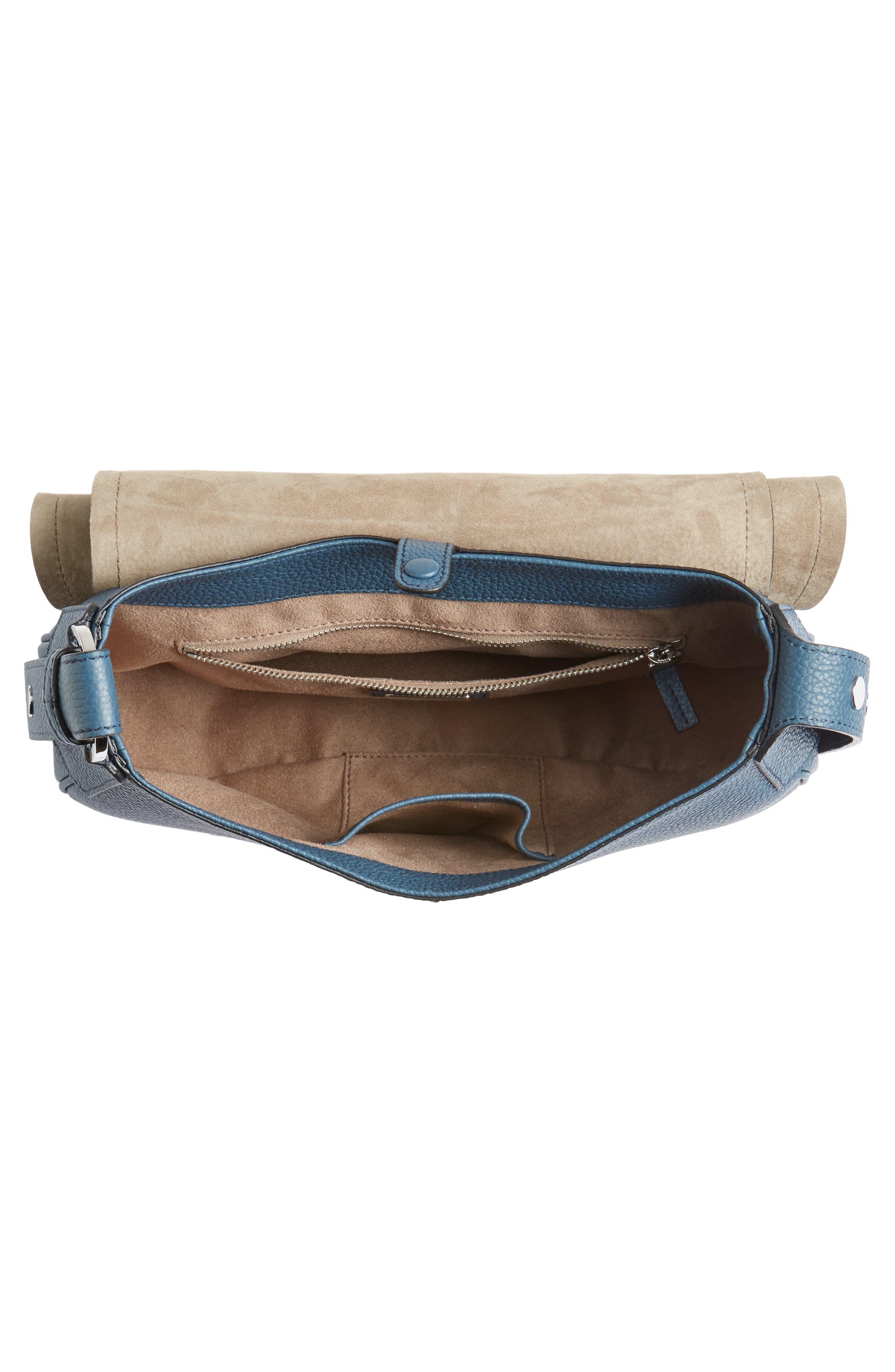 Small Valeria Leather Crossbody Bag,                             Alternate thumbnail 12, color,