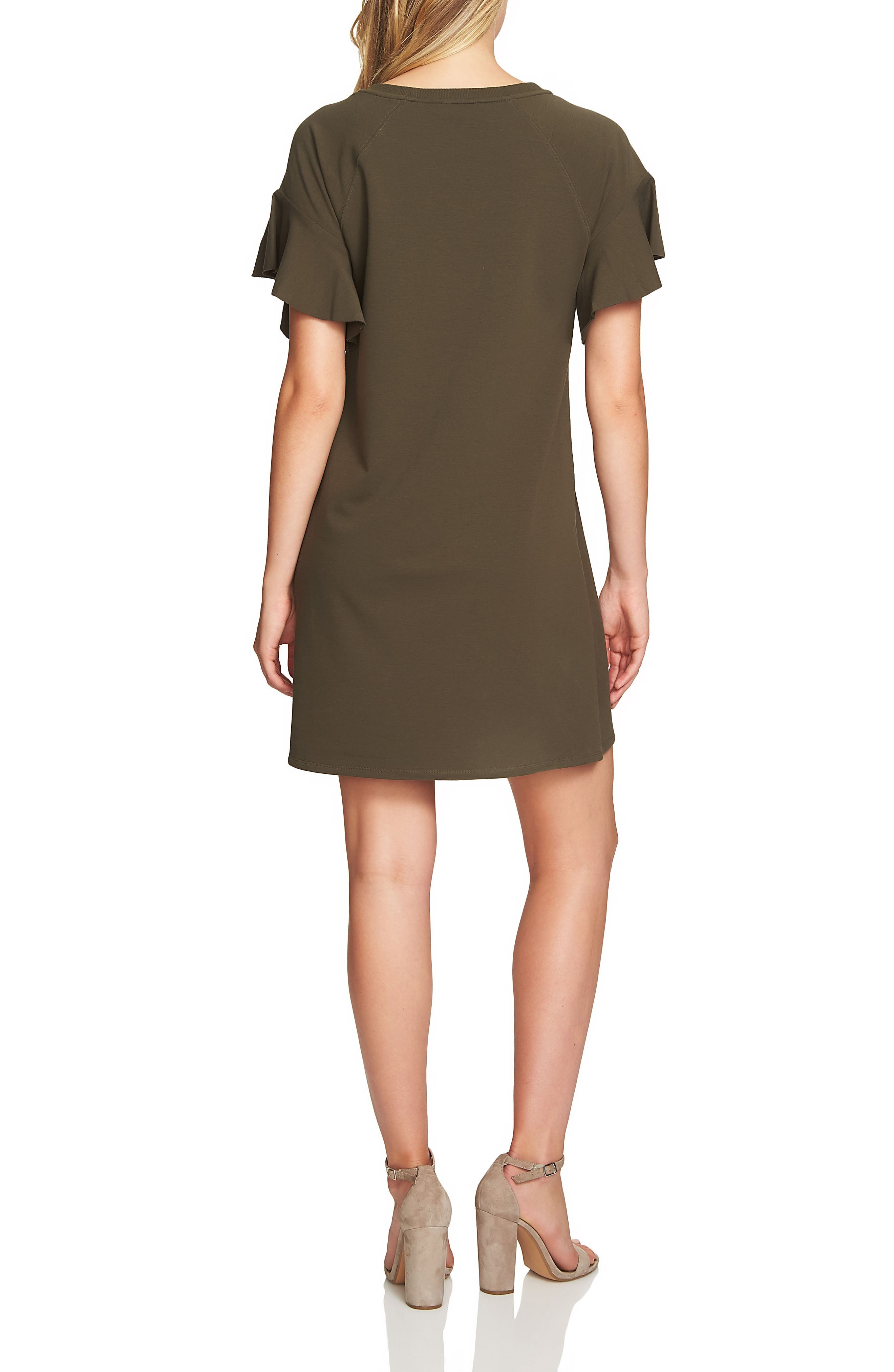 French Terry T-Shirt Dress,                             Alternate thumbnail 4, color,