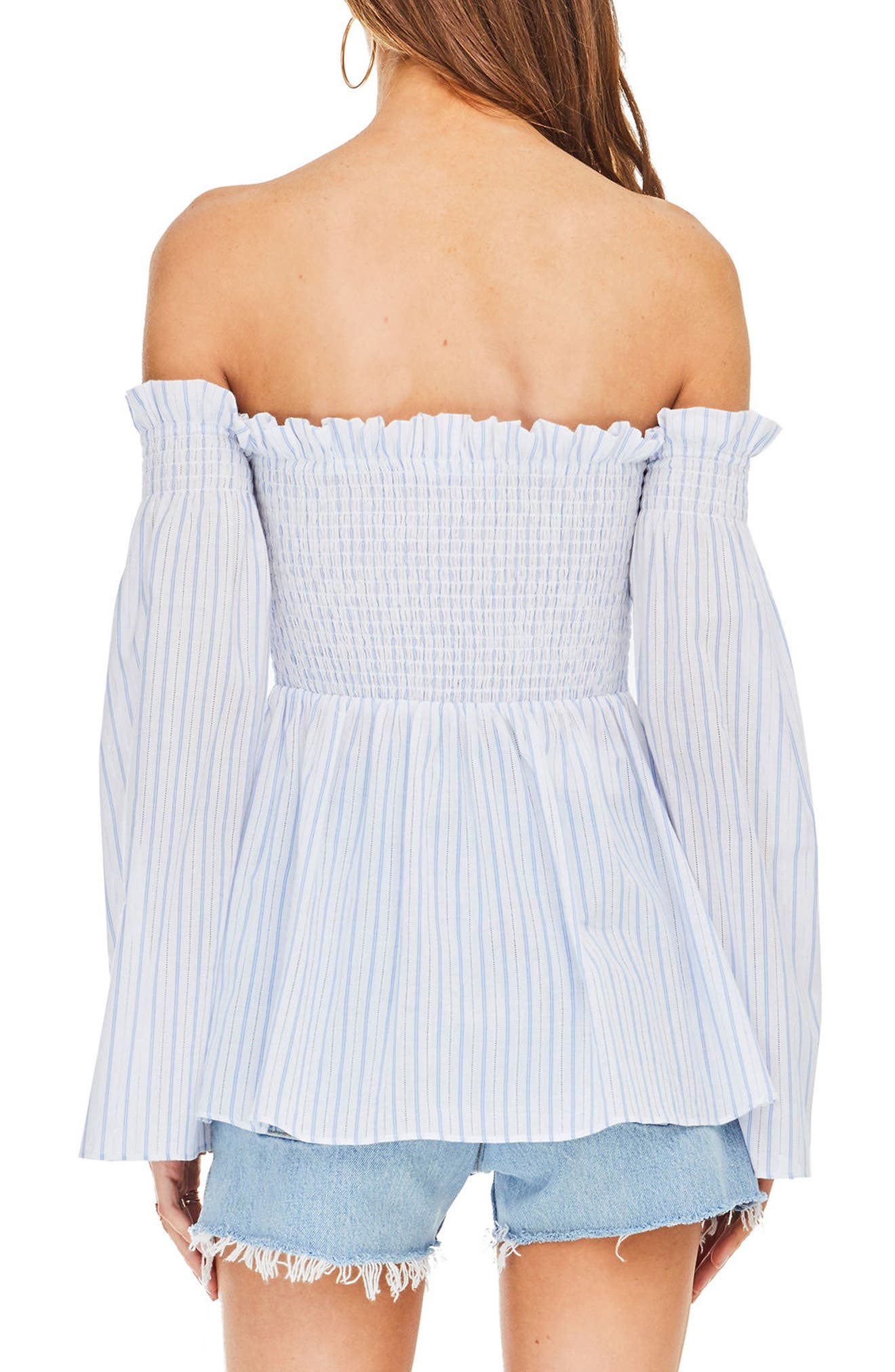Shelby Off the Shoulder Top,                             Alternate thumbnail 5, color,