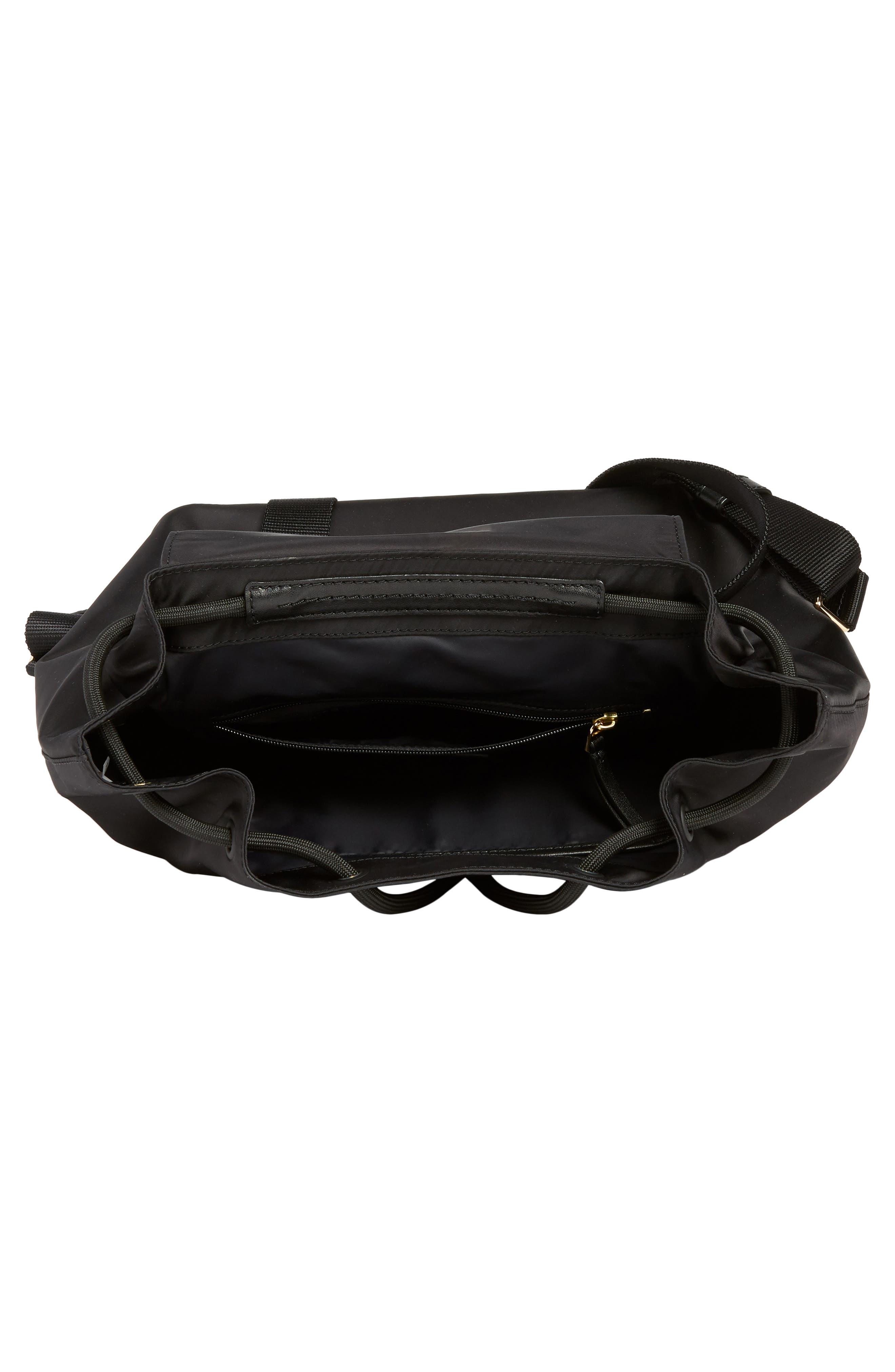Tilda Nylon Backpack,                             Alternate thumbnail 4, color,                             BLACK