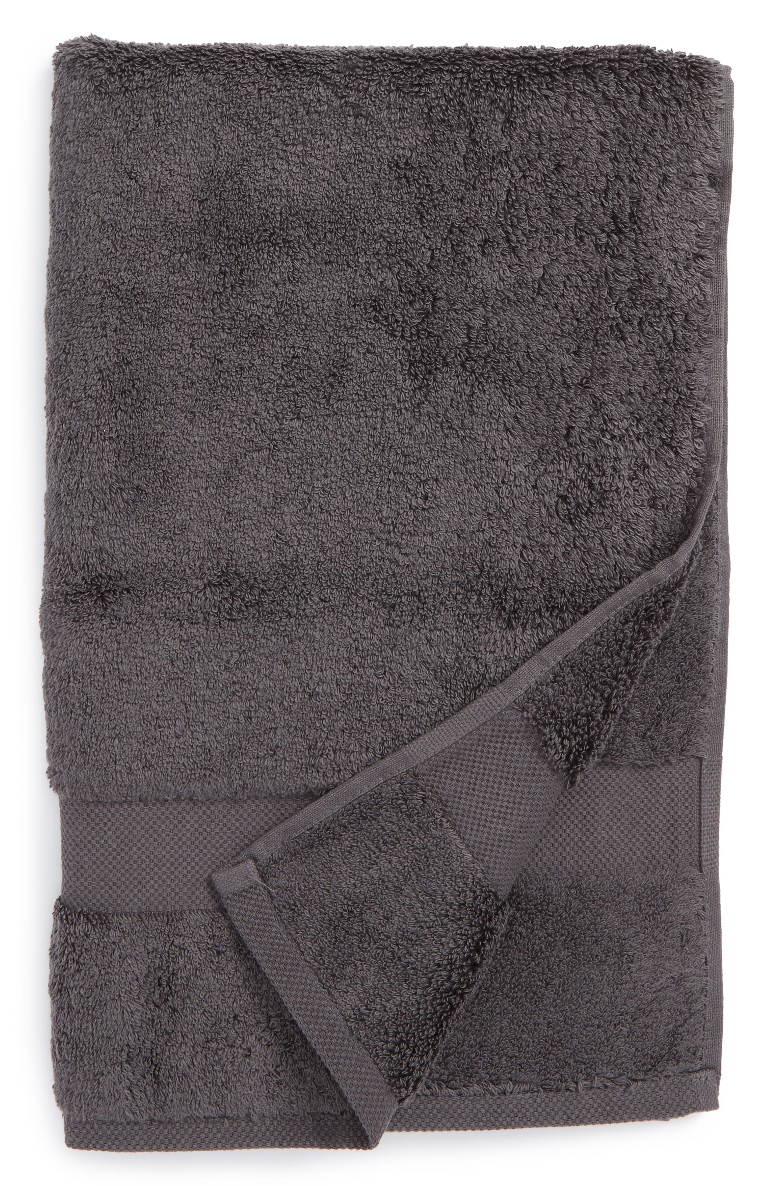 Lotus Hand Towel,                         Main,                         color, CHARCOAL