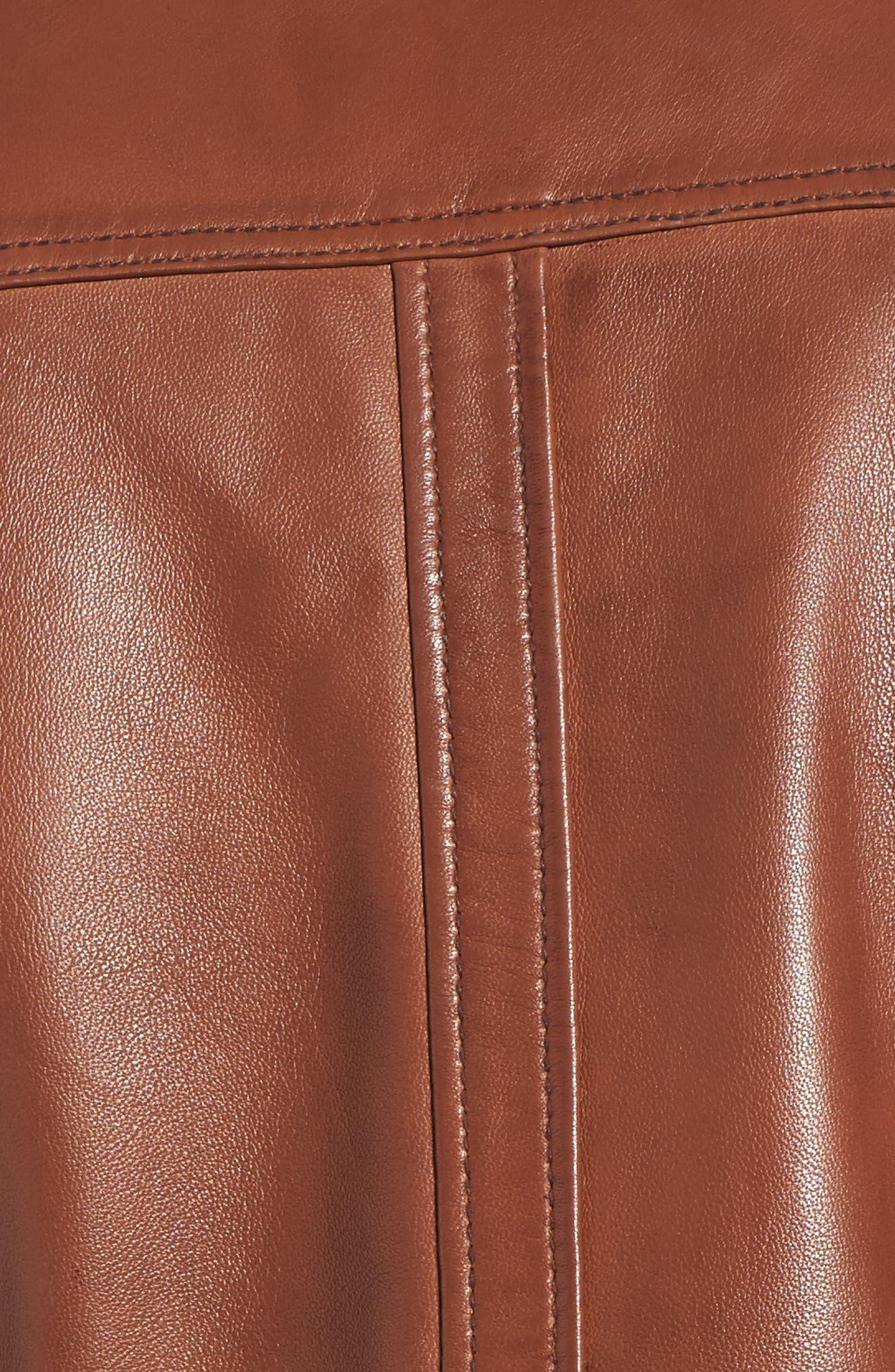Leather Moto Jacket,                             Alternate thumbnail 12, color,
