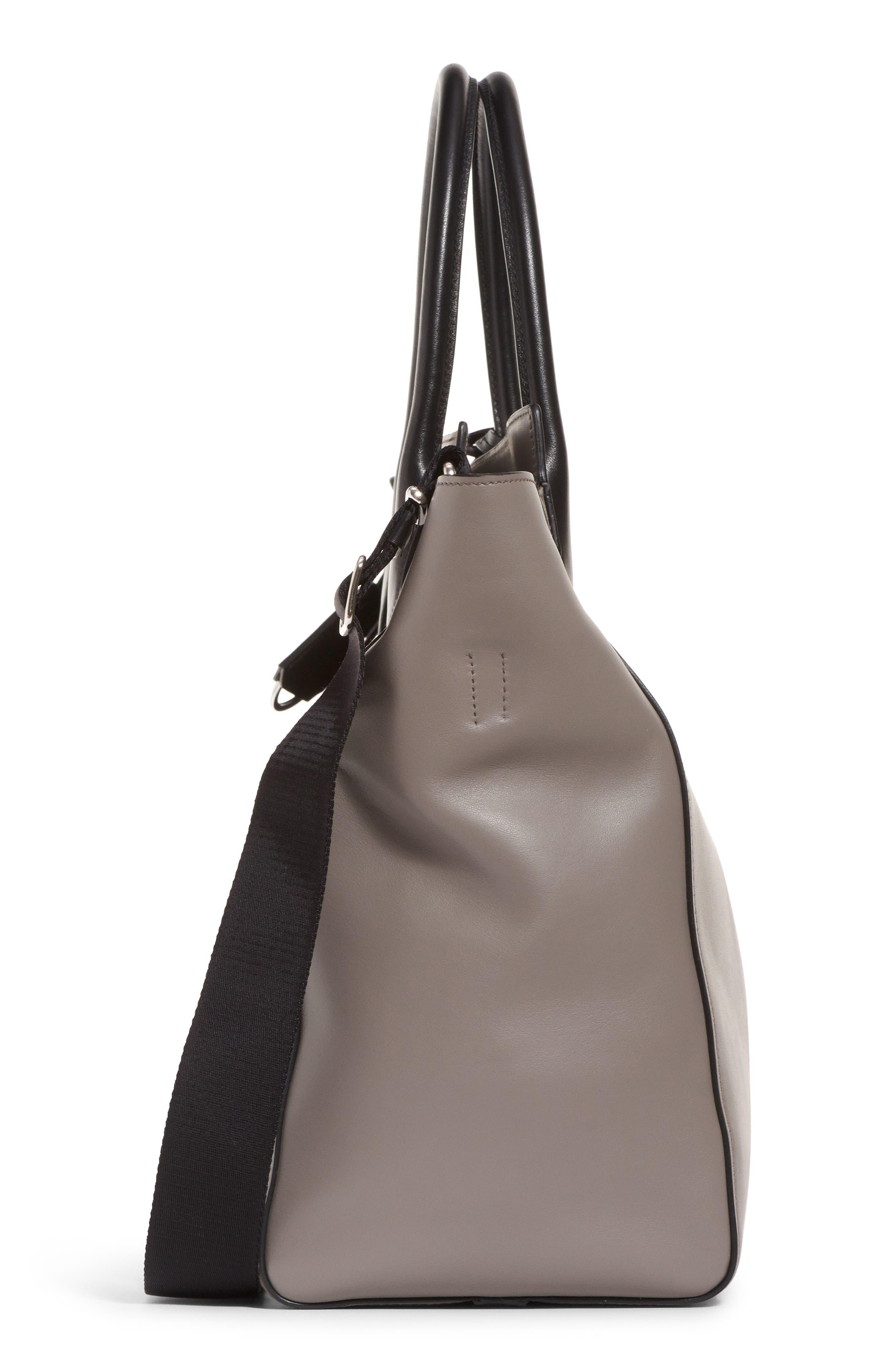 Etiquette Leather Shoulder Bag,                             Alternate thumbnail 4, color,                             250