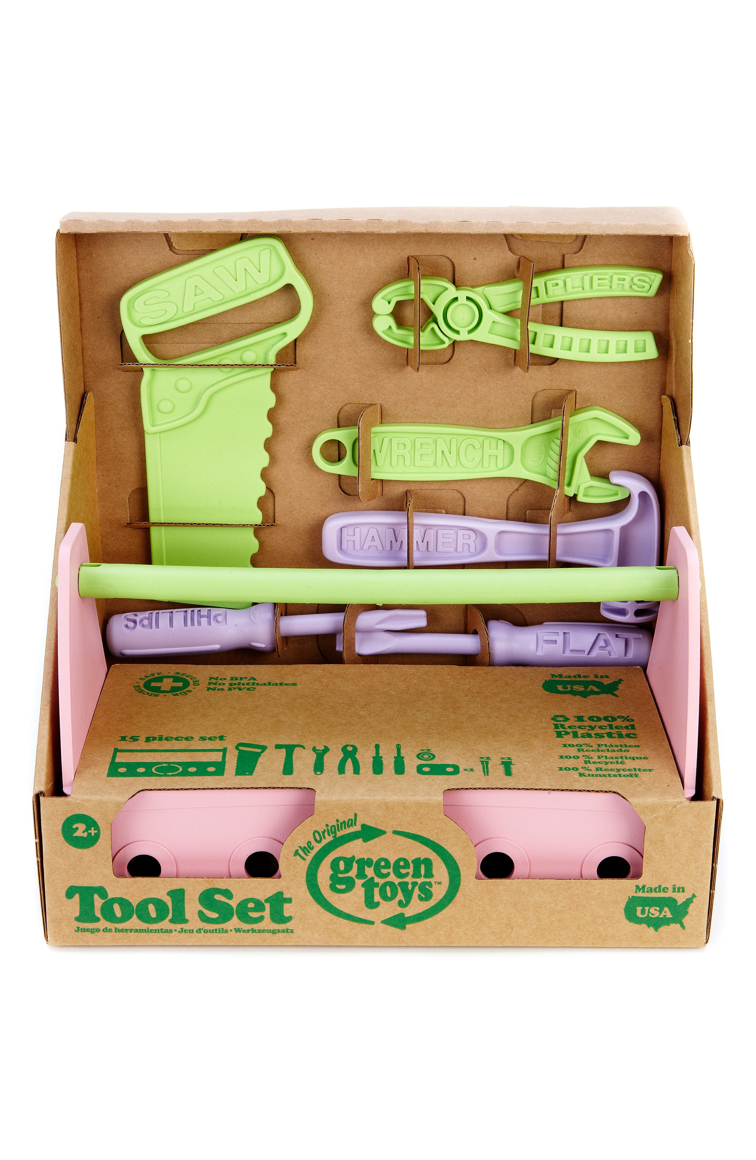 15-Piece Plastic Tool Set,                             Alternate thumbnail 8, color,