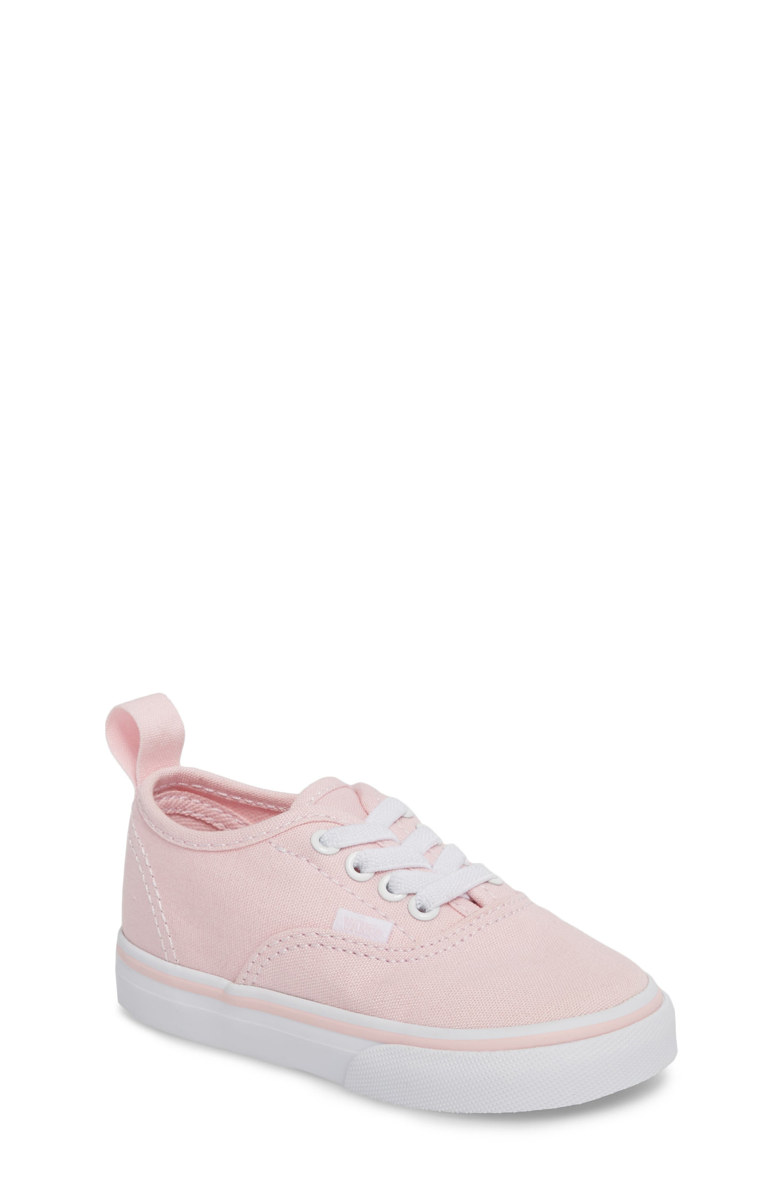 Authentic Elastic Lace Sneaker,                             Main thumbnail 1, color,                             CHALK PINK/ TRUE WHITE
