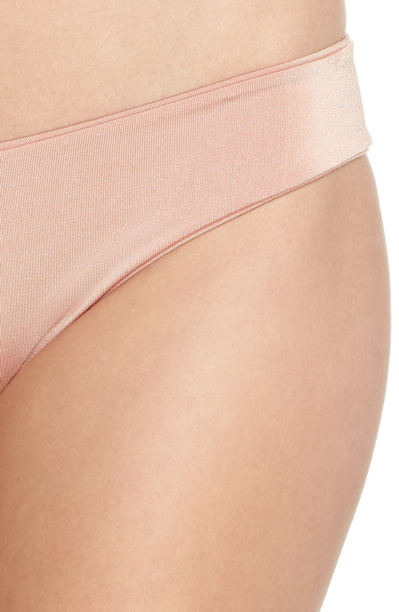 Charlie Bikini Bottoms,                             Alternate thumbnail 4, color,                             BLUSH & BASHFUL