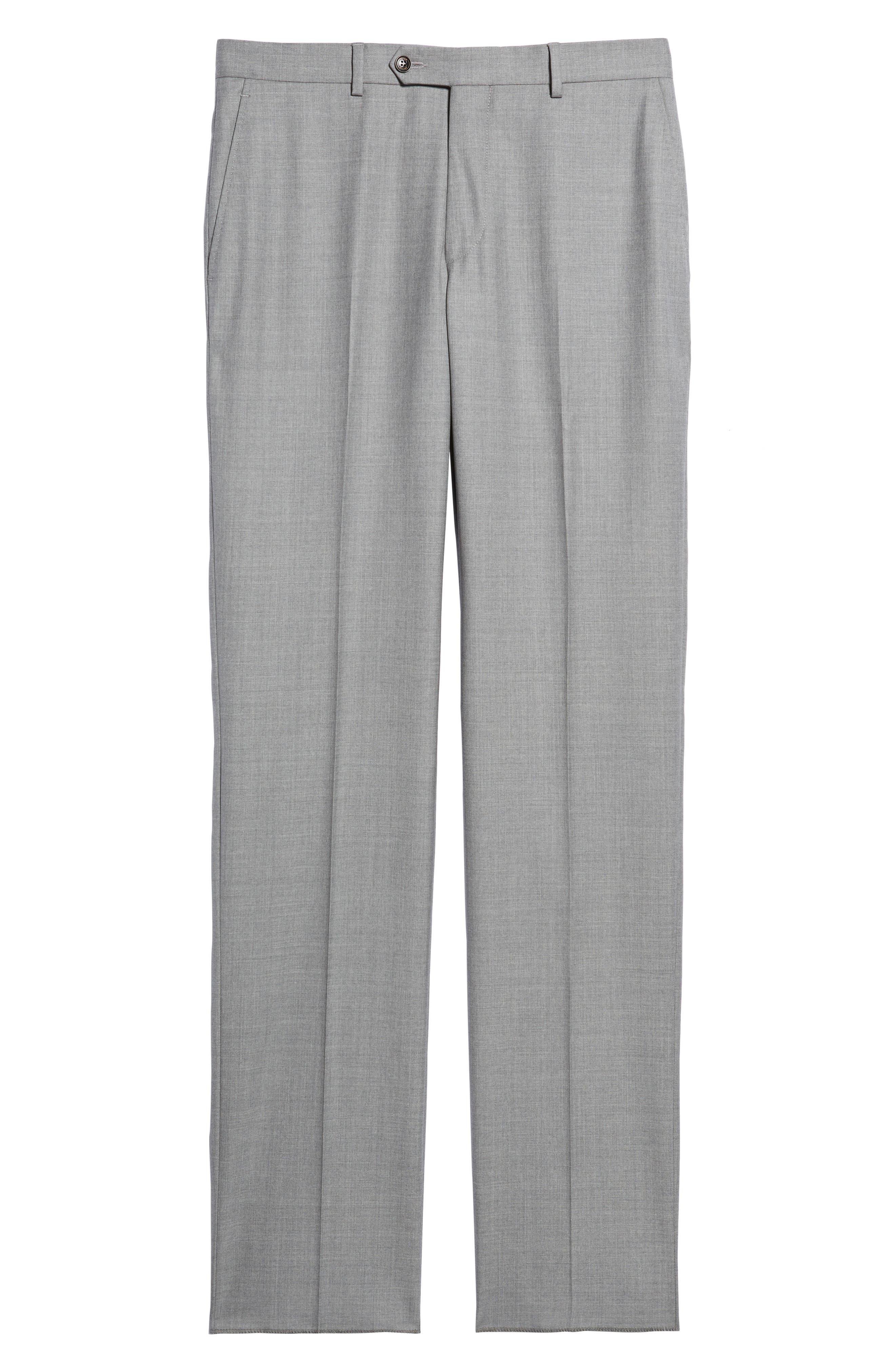 Peter Millar Multi Season Super 150s Wool Flat Front Trousers,                             Alternate thumbnail 6, color,                             047