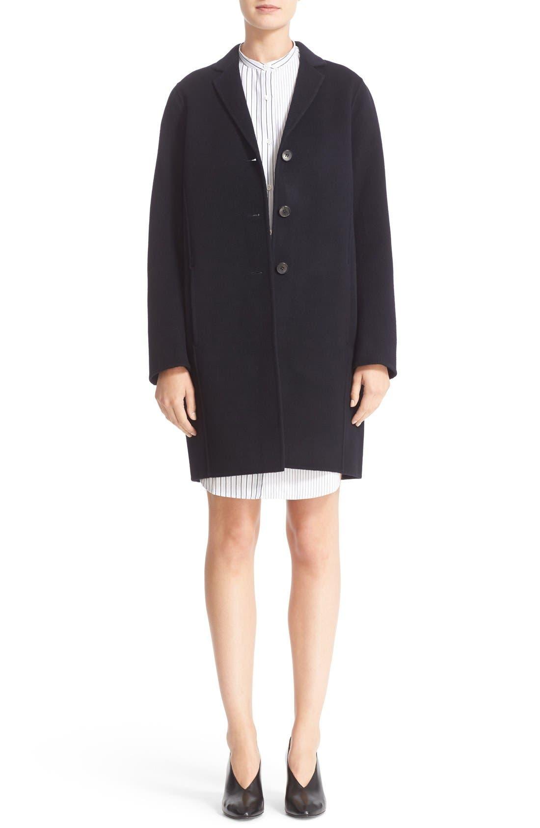 Elsa Double Wool & Cashmere Cocoon Coat,                         Main,                         color, 410