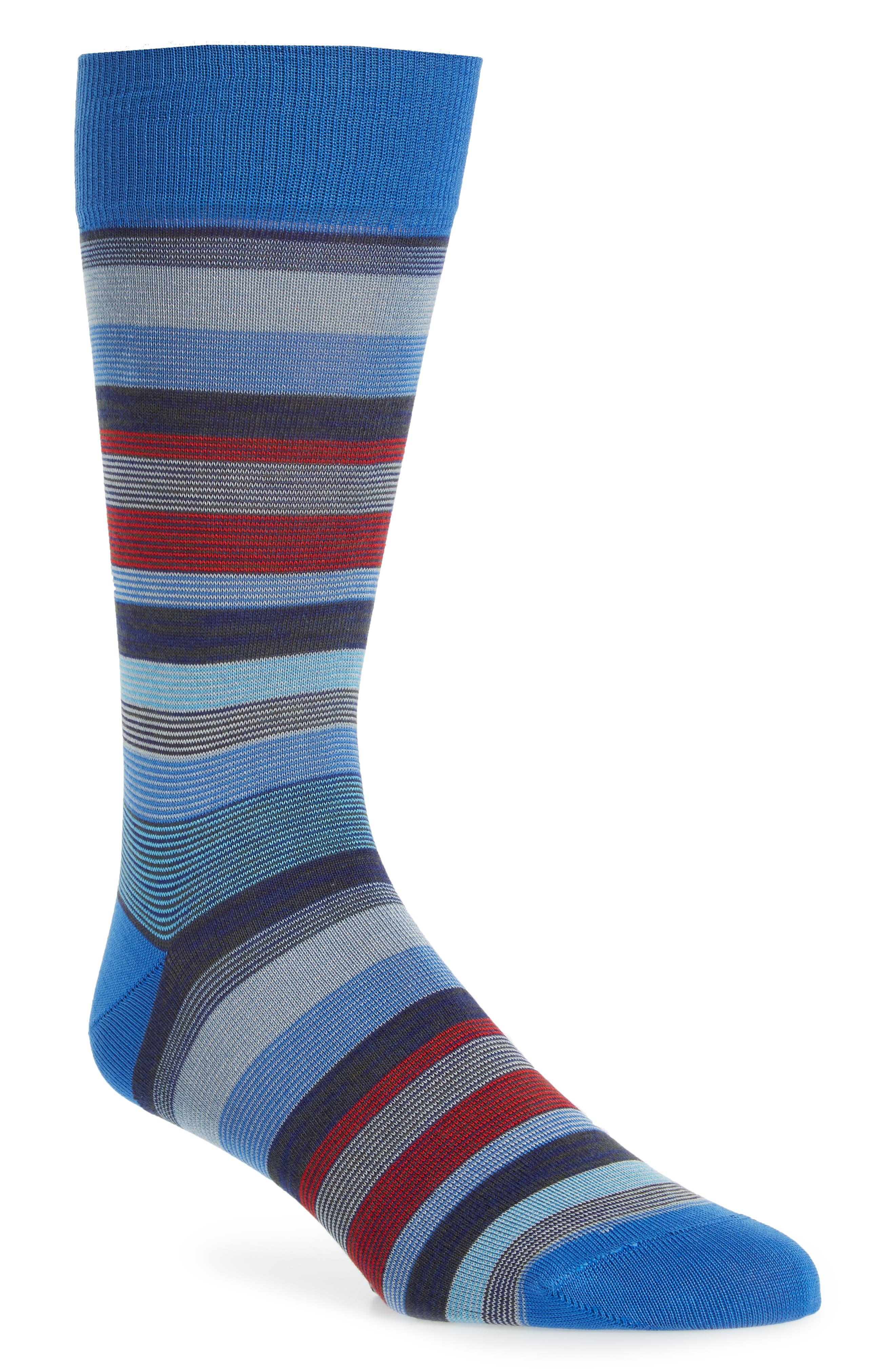 Stripe Socks,                             Main thumbnail 1, color,                             COBALT