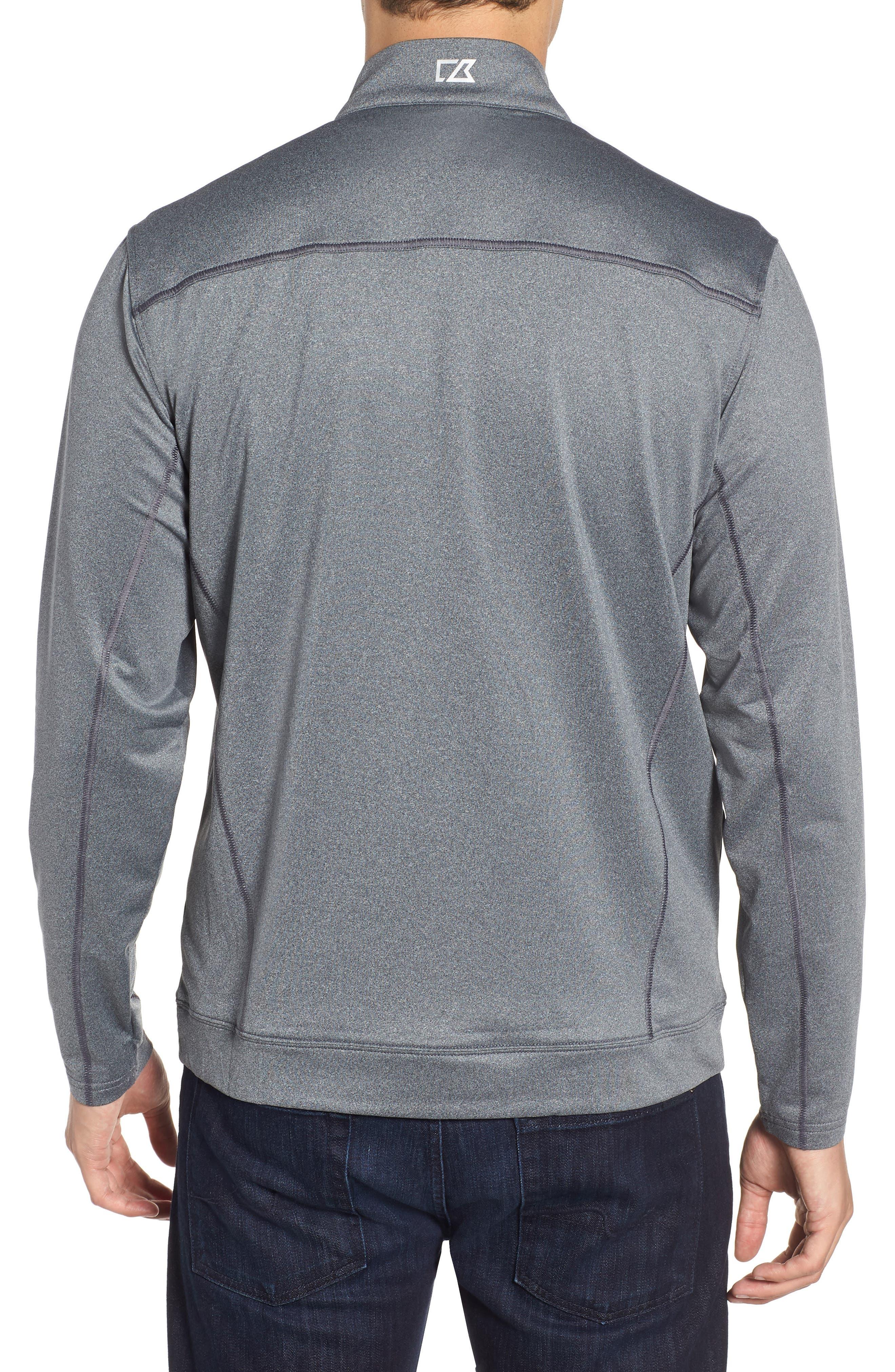 Endurance Oakland Raiders Regular Fit Pullover,                             Alternate thumbnail 2, color,                             CHARCOAL HEATHER