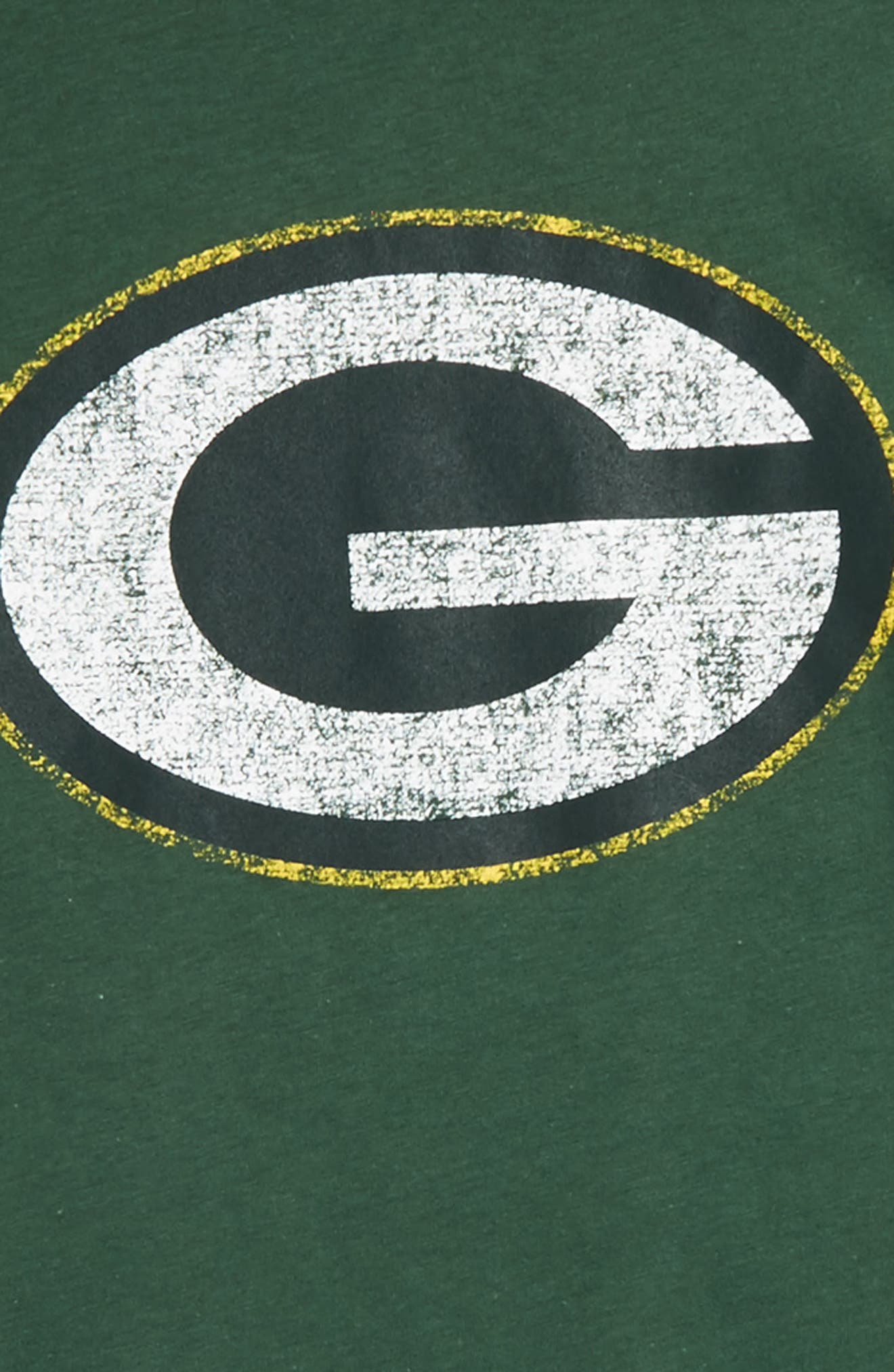 'NFL - Green Bay Packers' Distressed Logo Graphic T-Shirt,                             Alternate thumbnail 3, color,