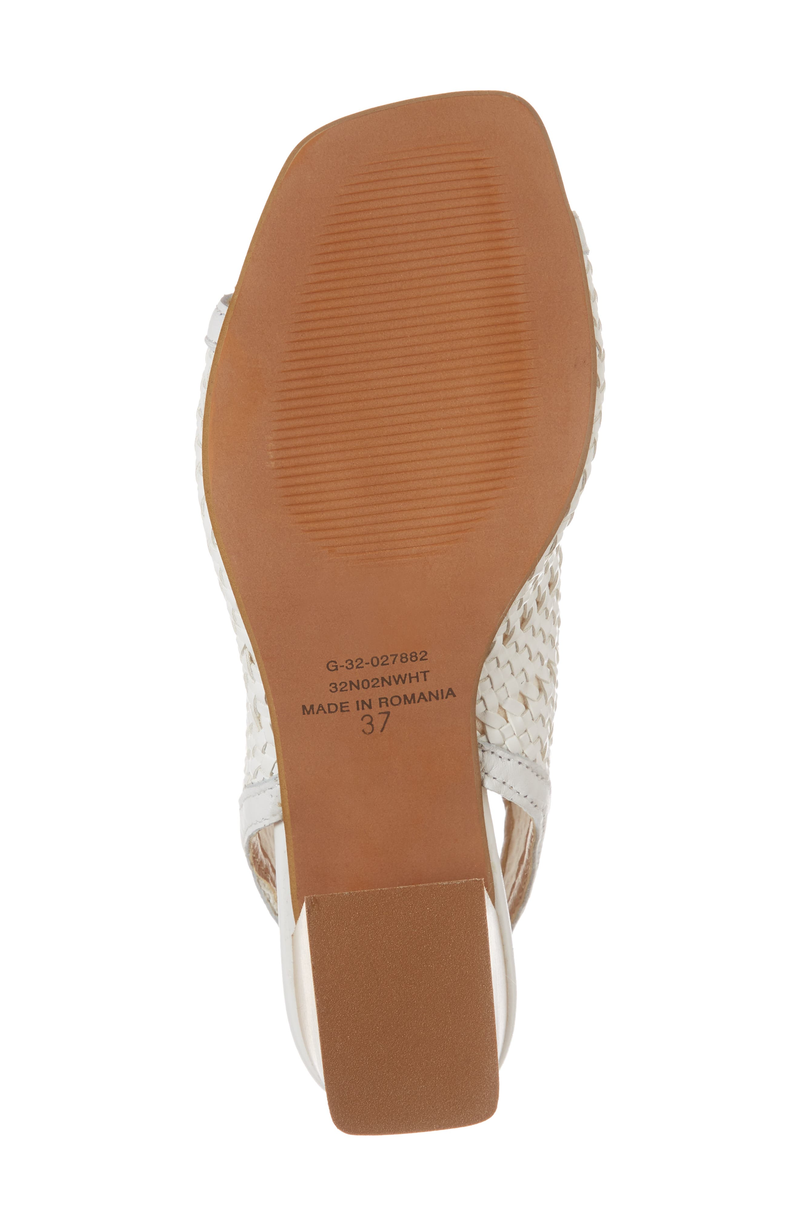 Nifty Woven Flared Heel Sandal,                             Alternate thumbnail 12, color,