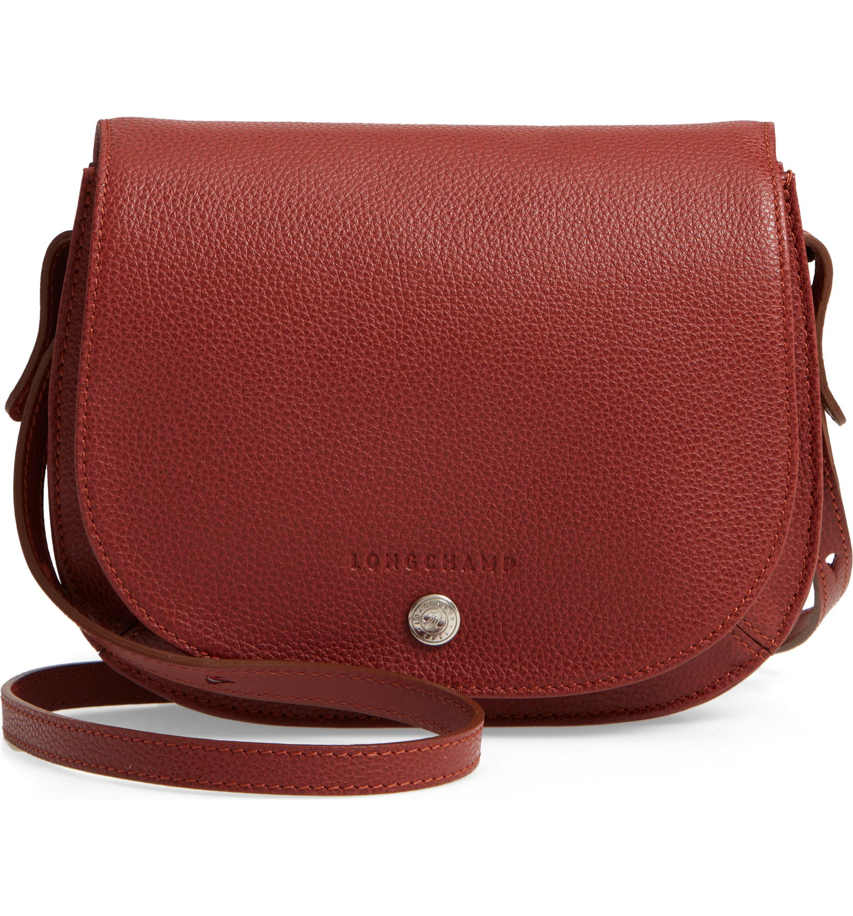 Longchamp Small Le Foulonne Leather Crossbody Bag  ffe7a72e5bfca