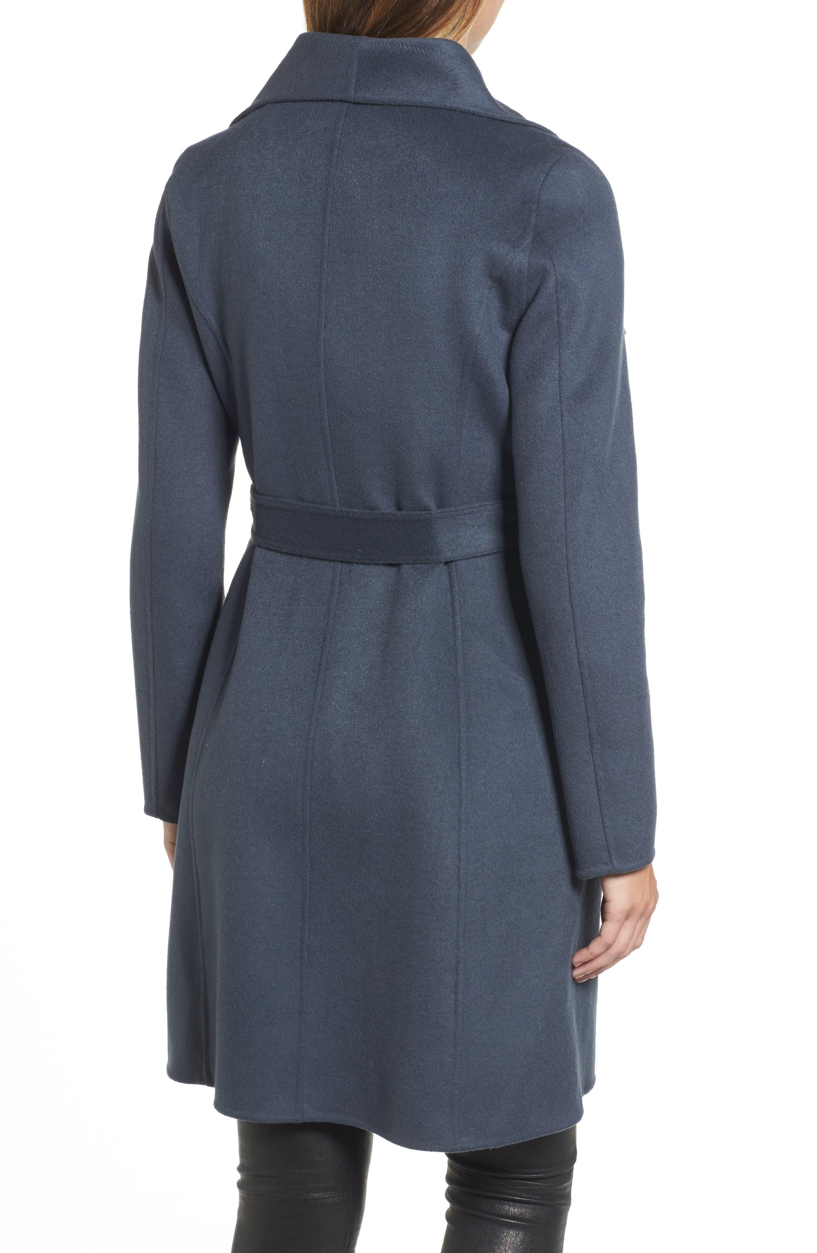 Ellie Double Face Wool Blend Wrap Coat,                             Alternate thumbnail 5, color,