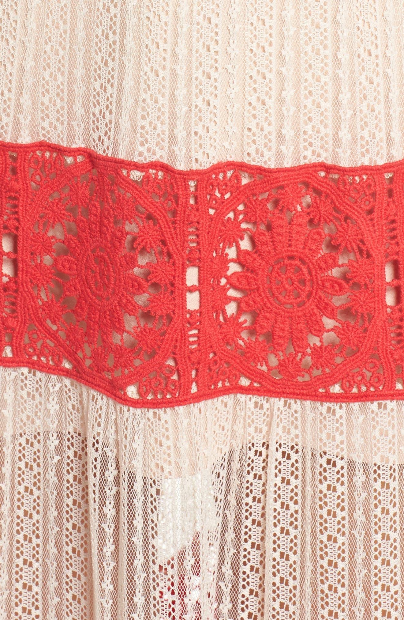 Ophelia Two-Tone Lace Maxi Dress,                             Alternate thumbnail 6, color,                             250