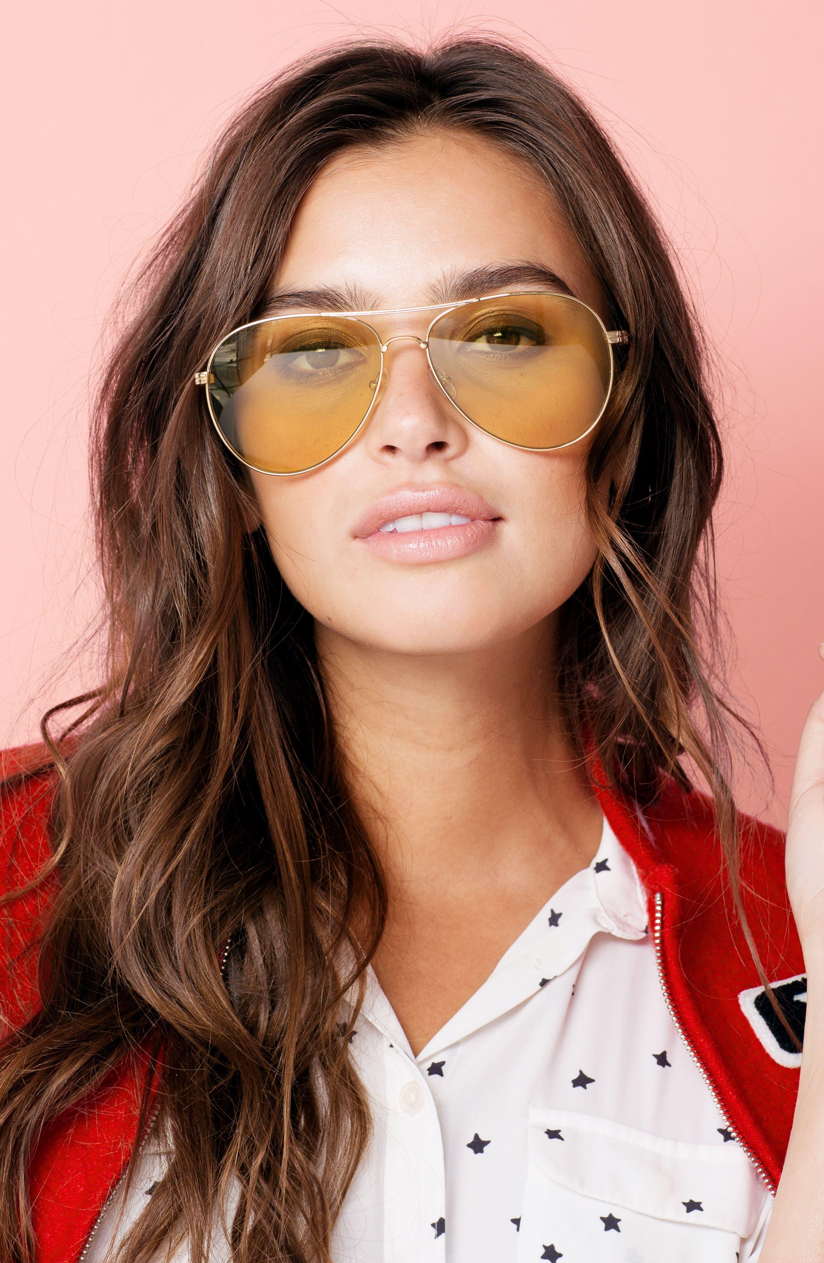 Lodi 62mm Mirrored Aviator Sunglasses,                             Alternate thumbnail 14, color,