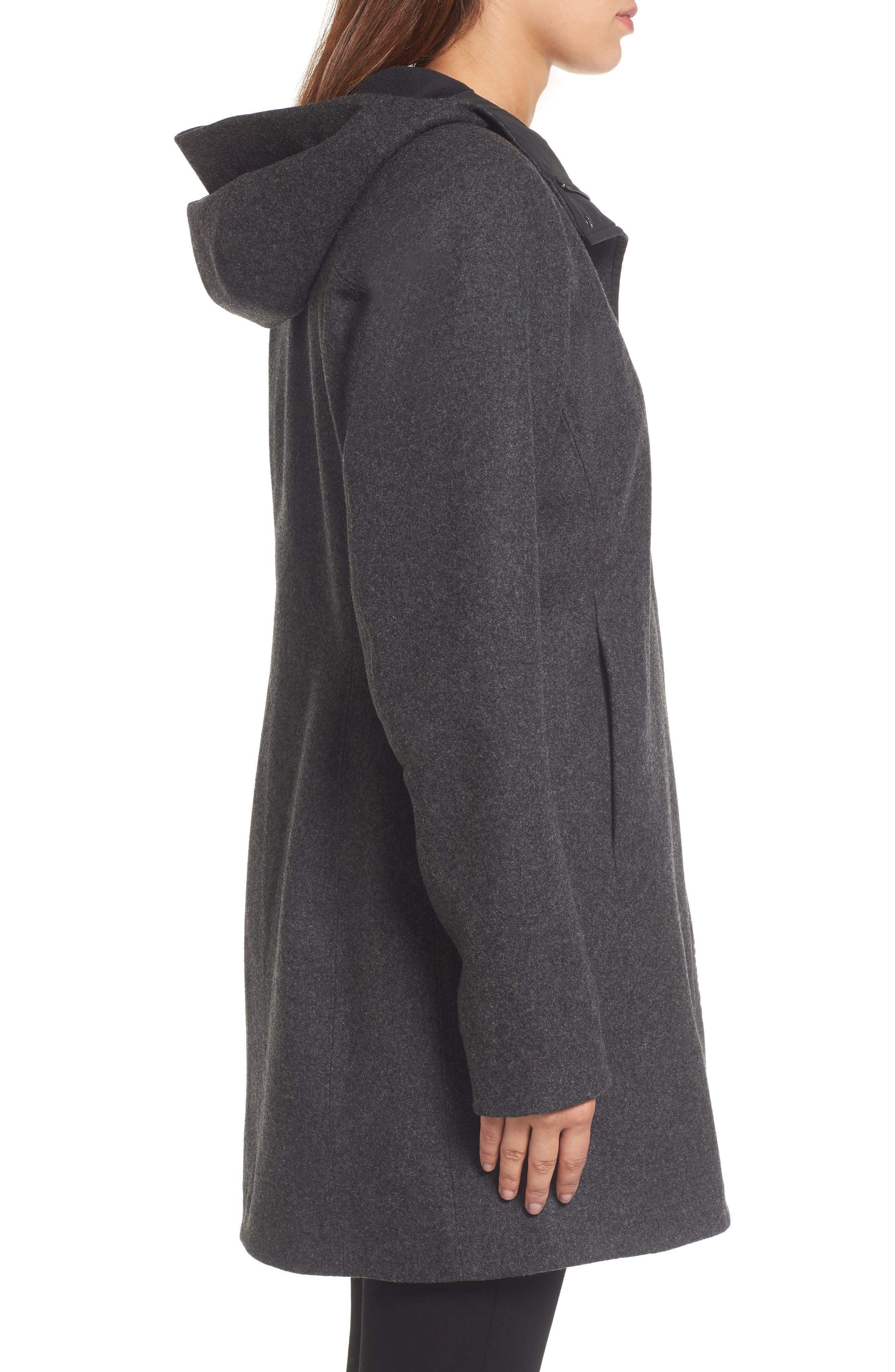 Embra Hooded Walking Coat,                             Alternate thumbnail 3, color,                             001