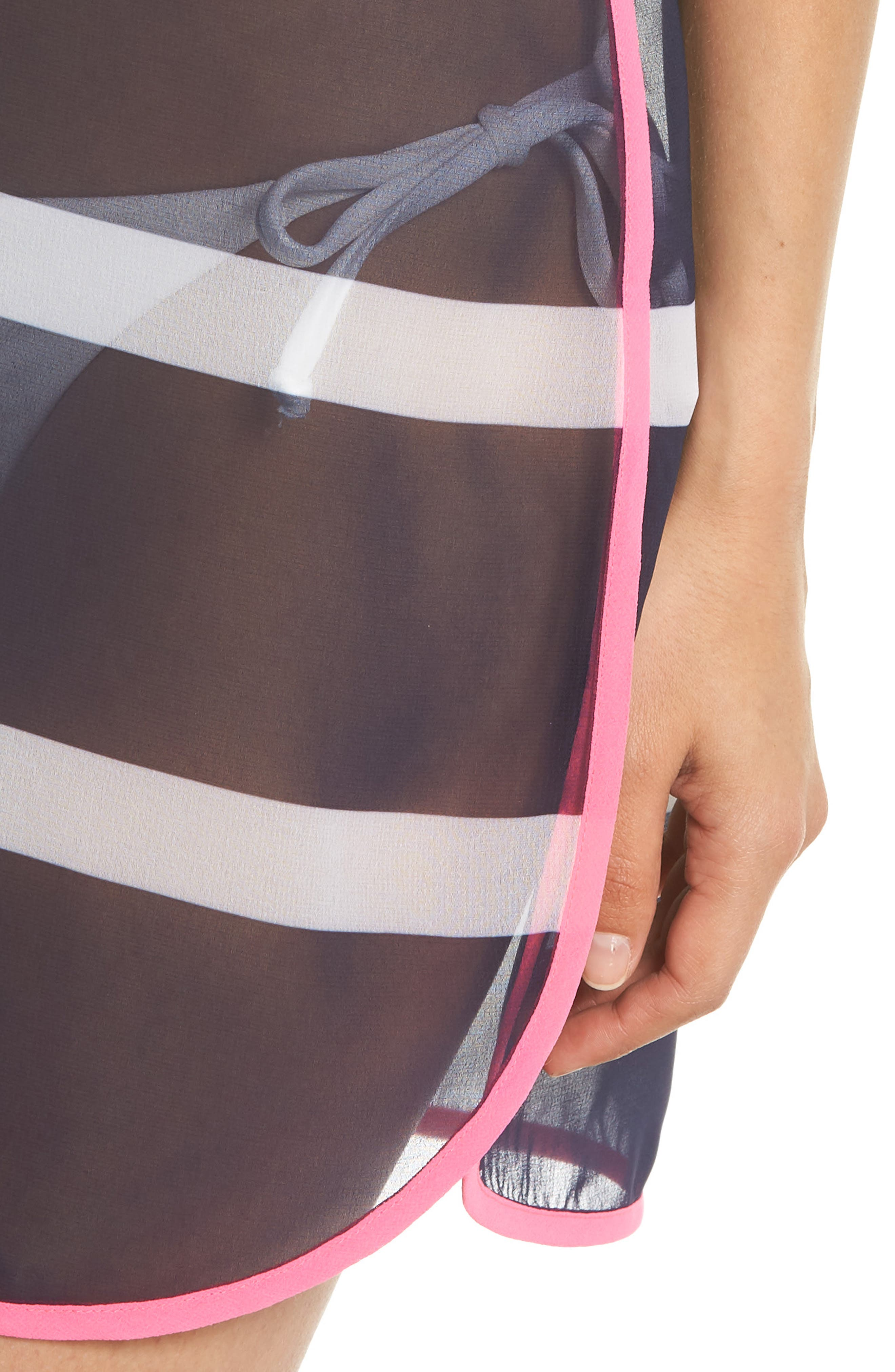 Stripe Cover-Up Tunic,                             Alternate thumbnail 4, color,                             410